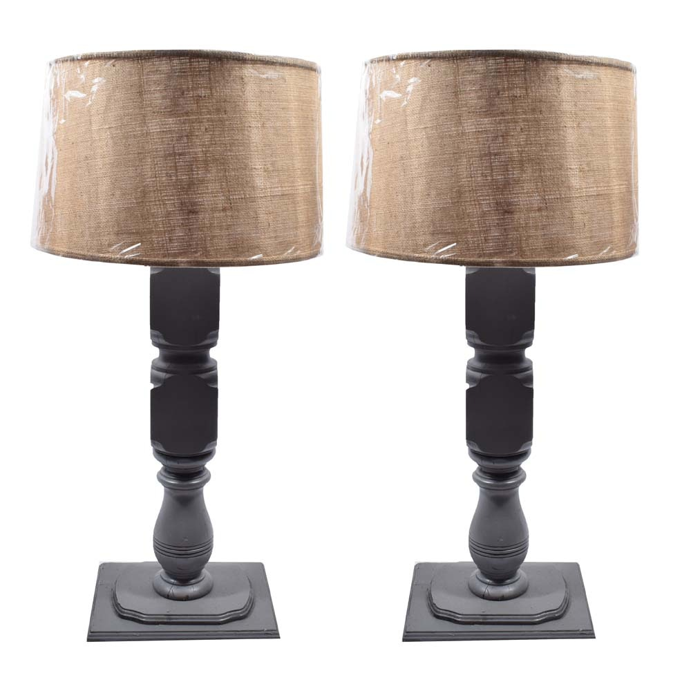 Handcrafted Fence Post Table Lamps