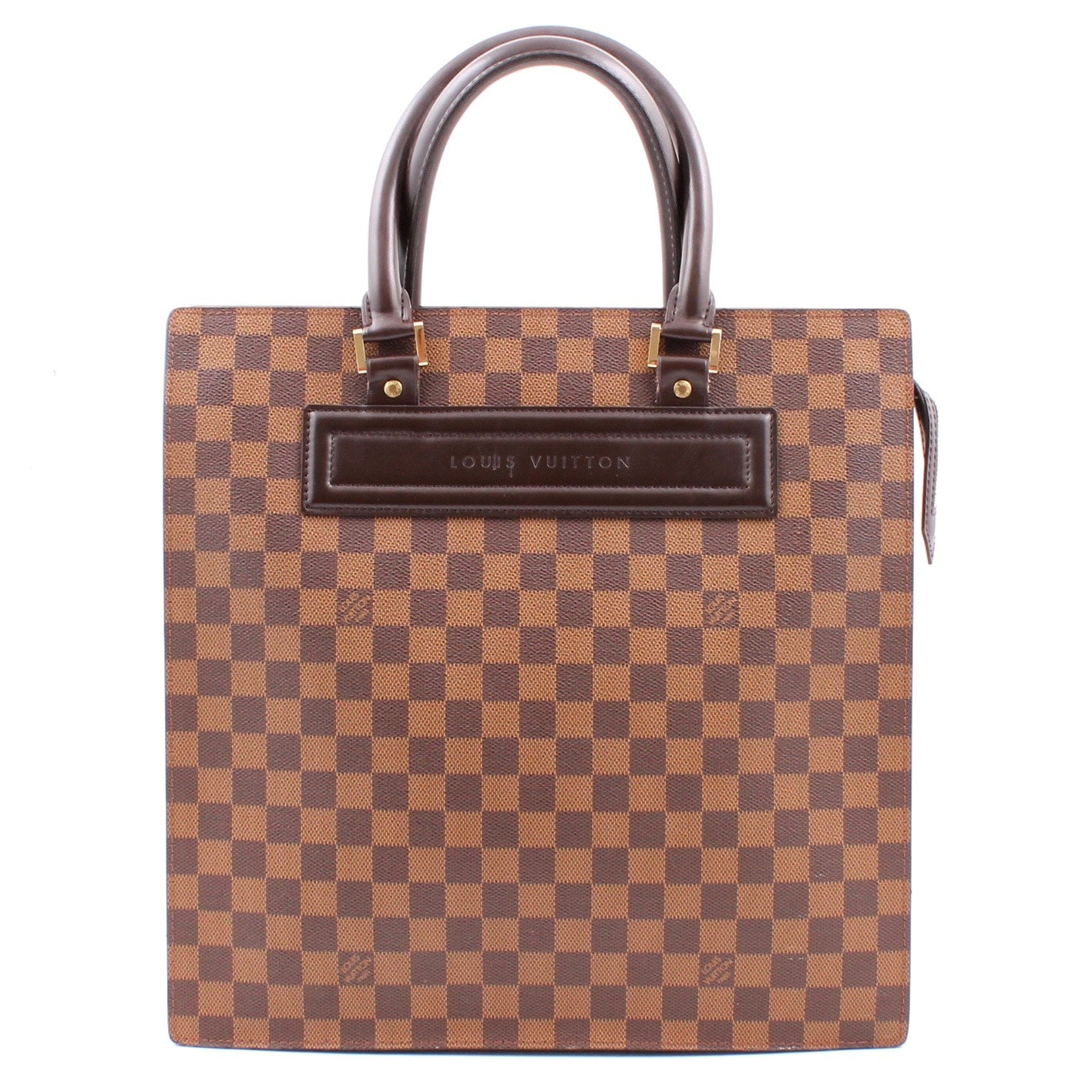 Louis Vuitton Damier Ebene Sac Plat Tote Bag