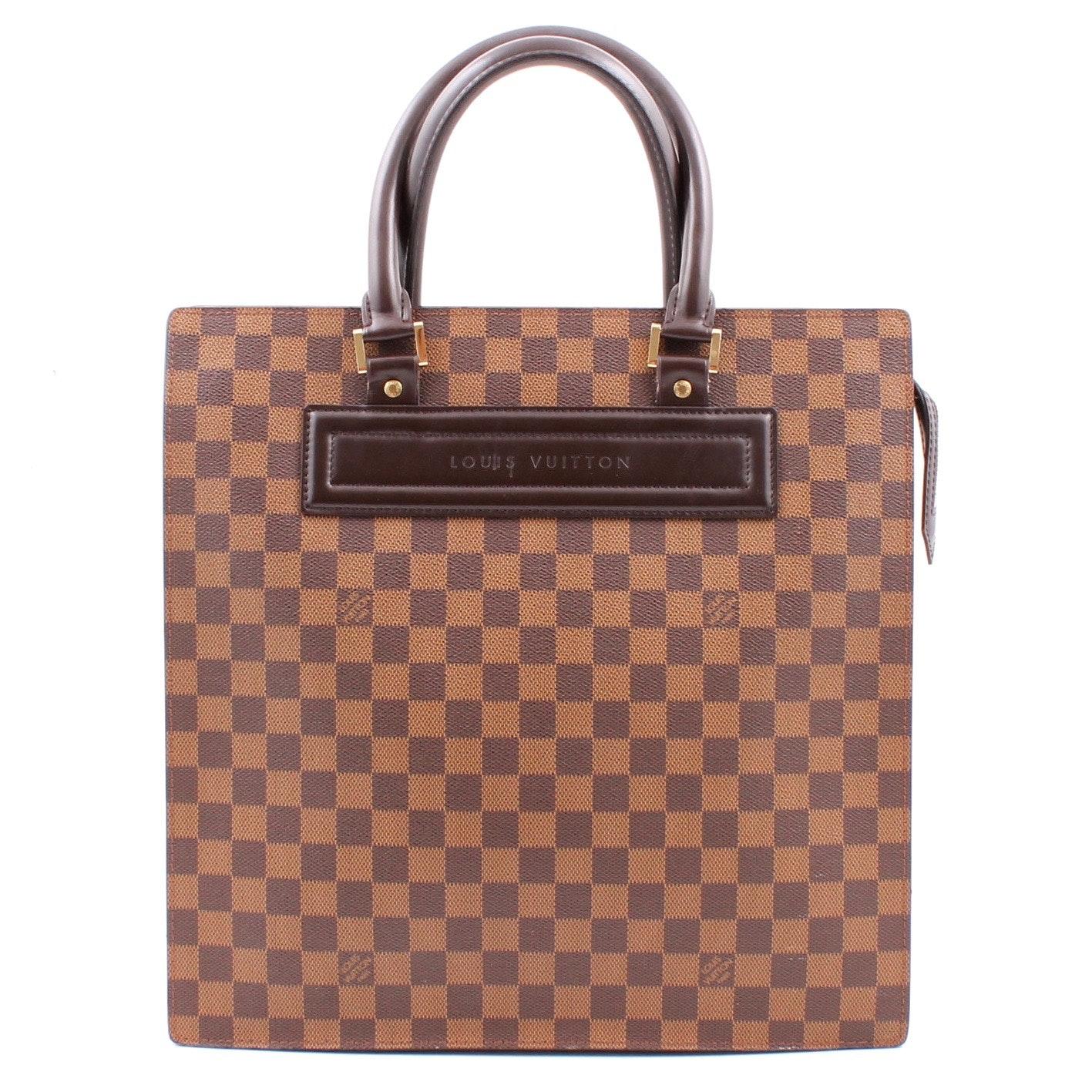 Louis Vuitton Damier Ebene Sac Plat Tote Bag