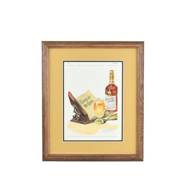 Original 1940 Kentucky Tavern Whiskey Magazine Advertisement