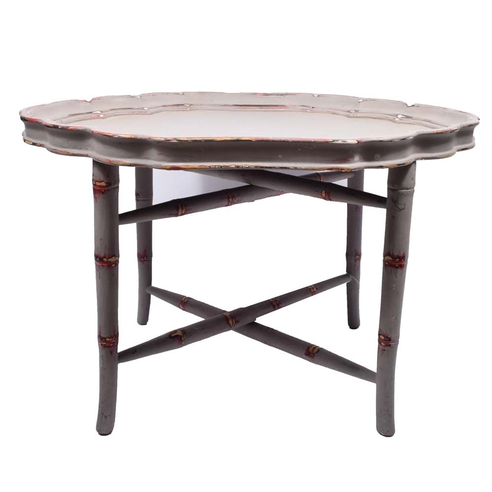 Chalk Painted Tray Table