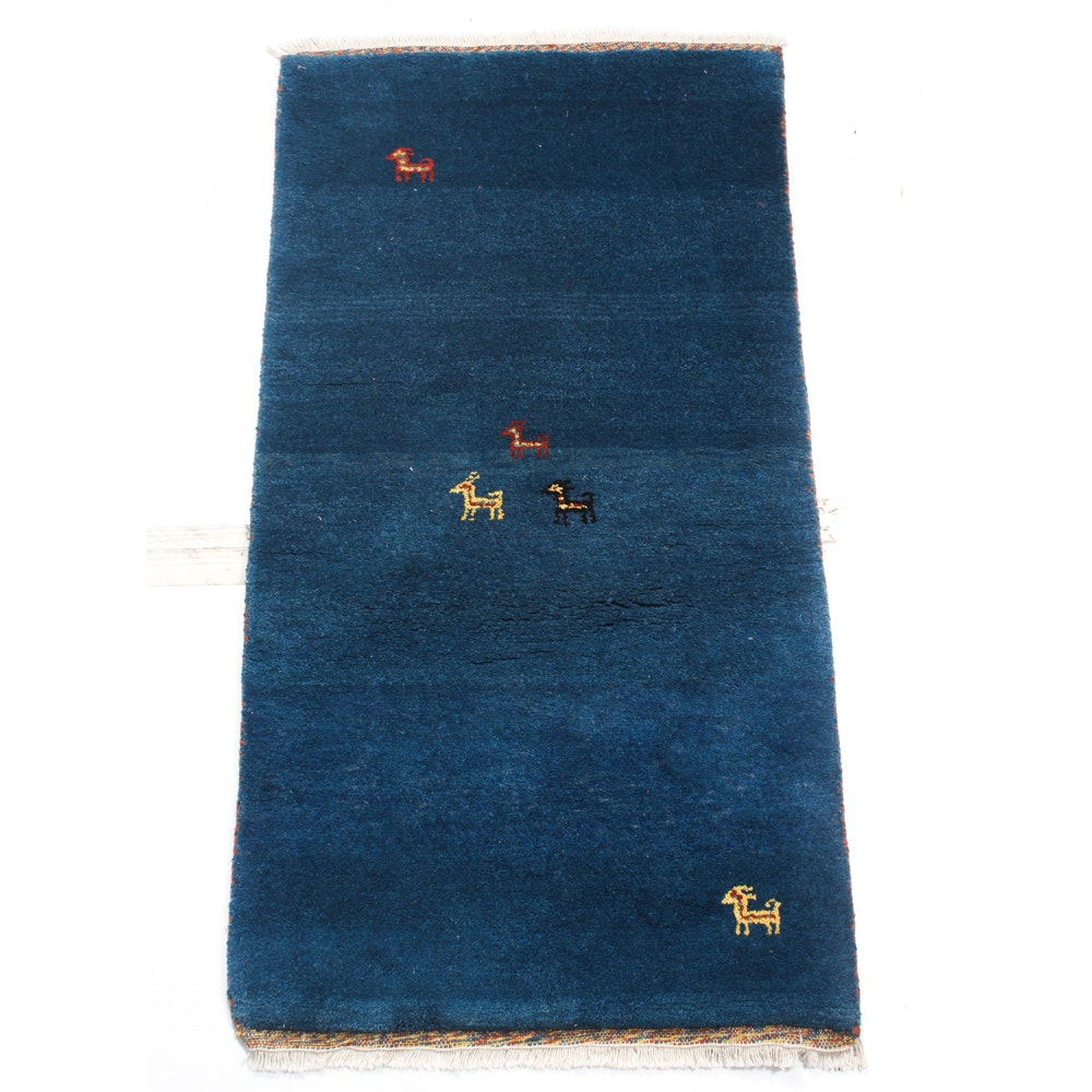 2' x 5' Hand-Knotted Gabbeh Rug