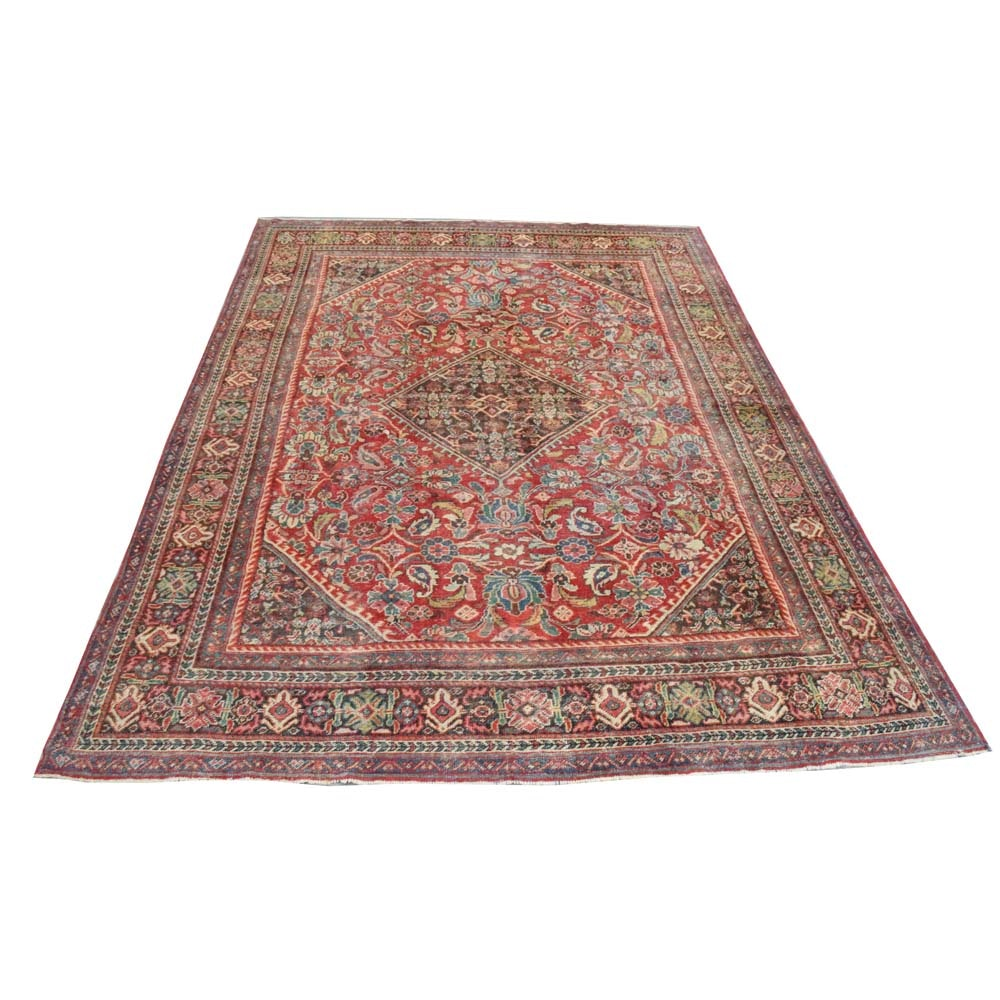 Vintage Persian Hand Woven Wool Area Rug