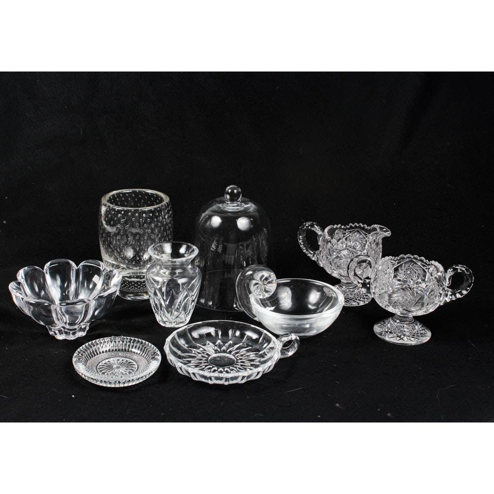 Pressed and Cut Glass Collection