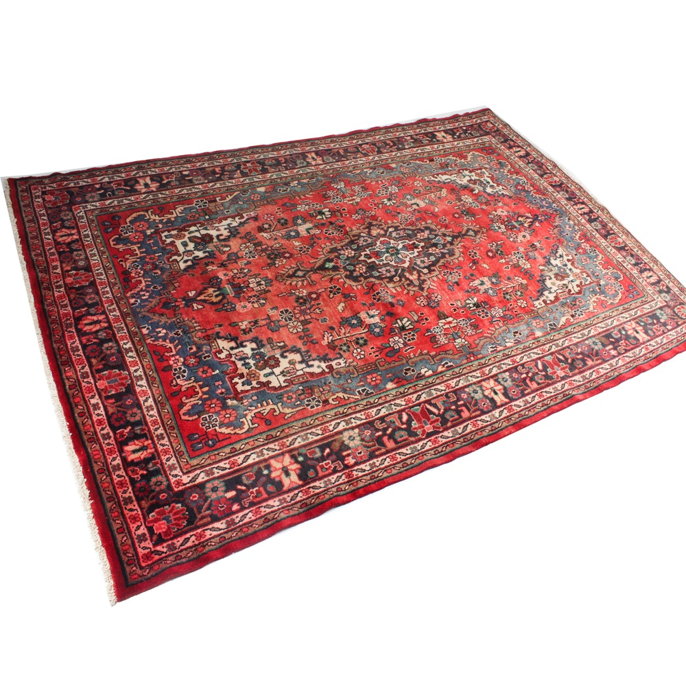 7' x 10' Hand-Knotted Persian Malayer Sarouk Rug