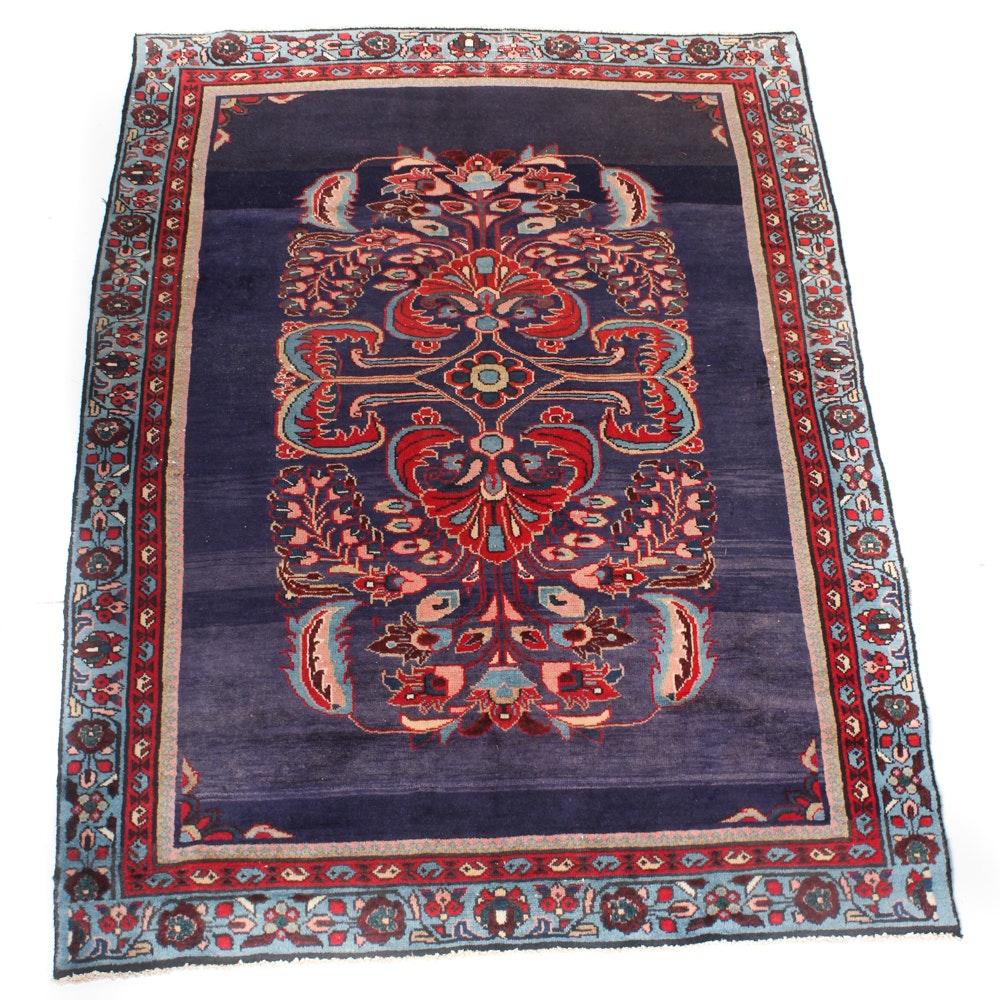 4' x 6' Vintage Hand-Knotted Persian Mahal Sarouk Rug