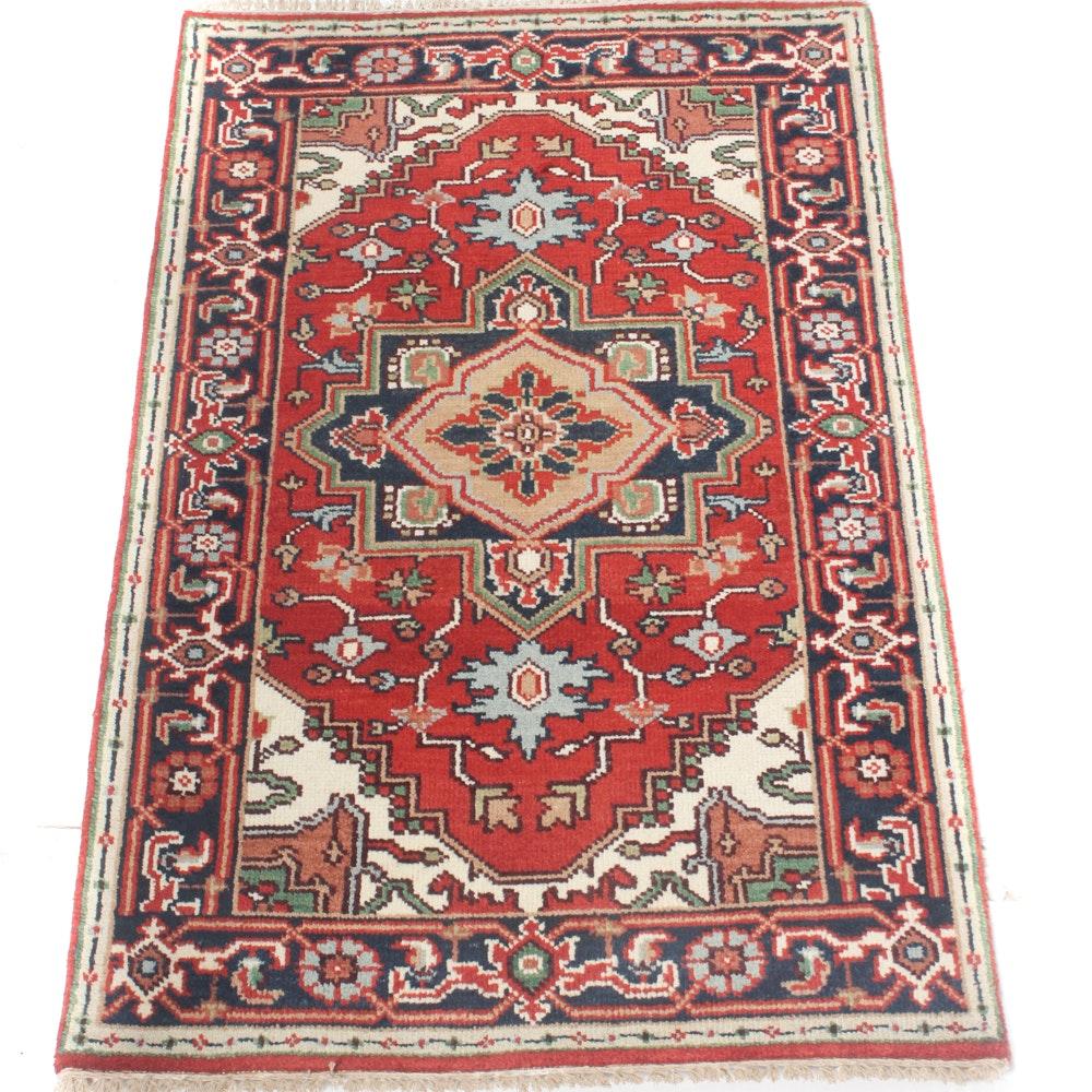 3' x 5' Hand-Knotted Indo-Persian Bakhshayesh Heriz Rug