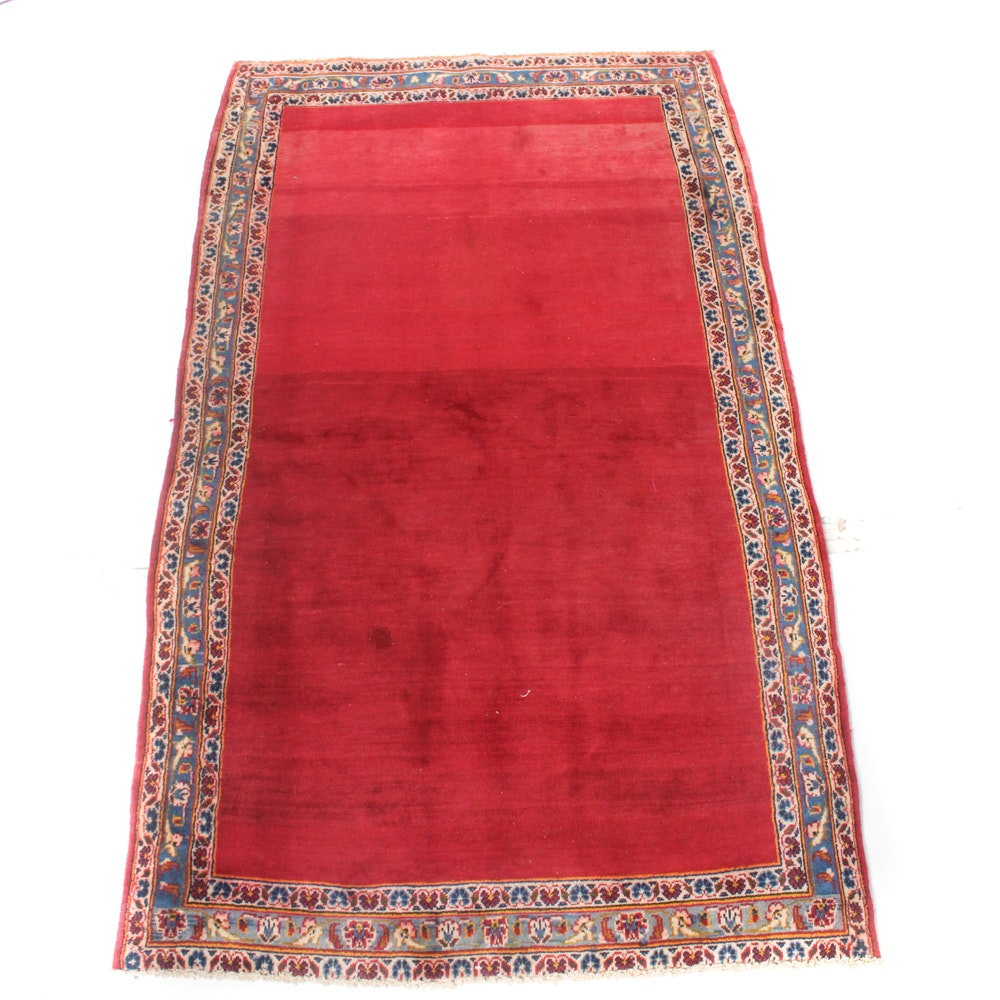 4' x 6' Vintage Hand-Knotted Persian Kashan Rug