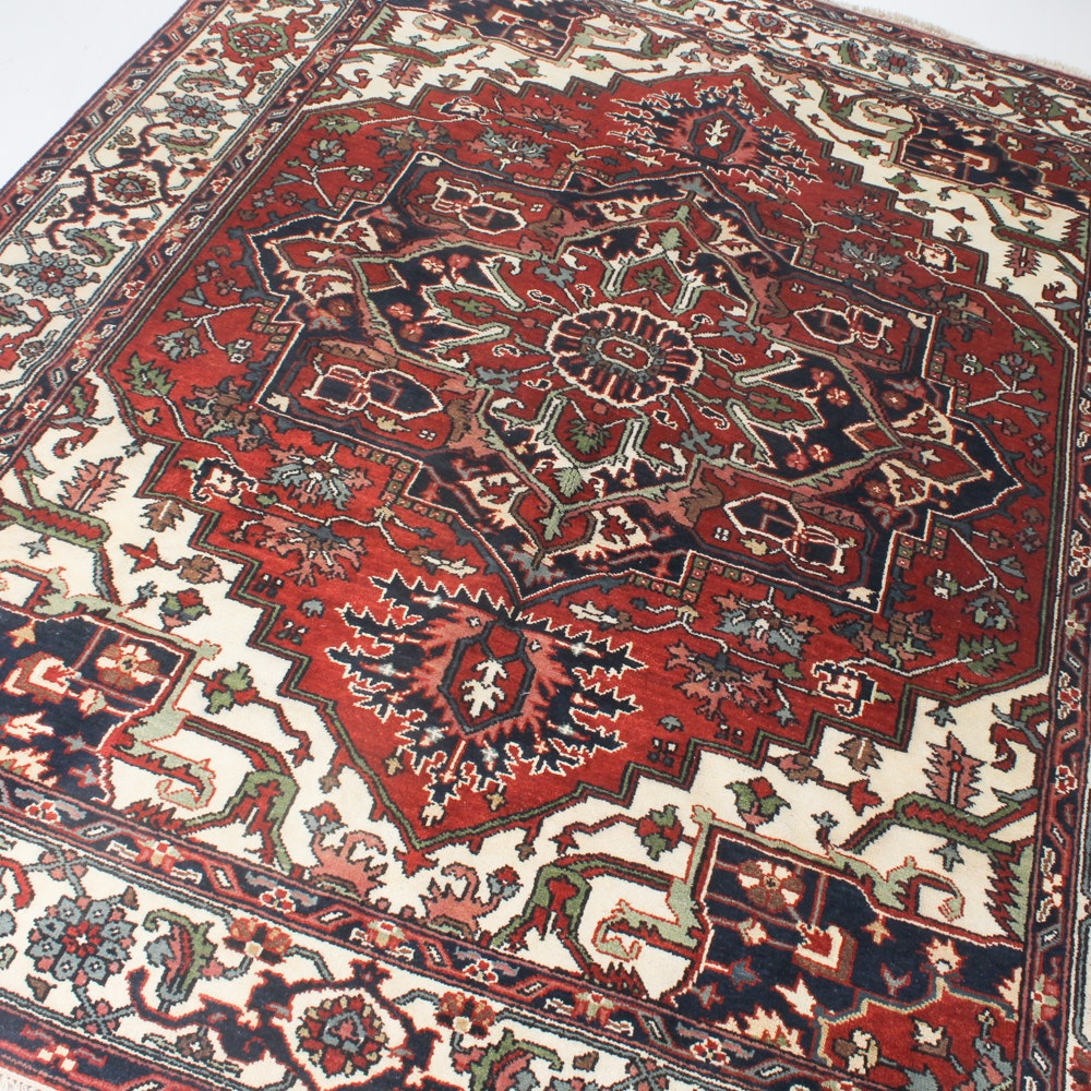 8' x 10' Hand-Knotted Indo-Persian Bakhshayesh Rug