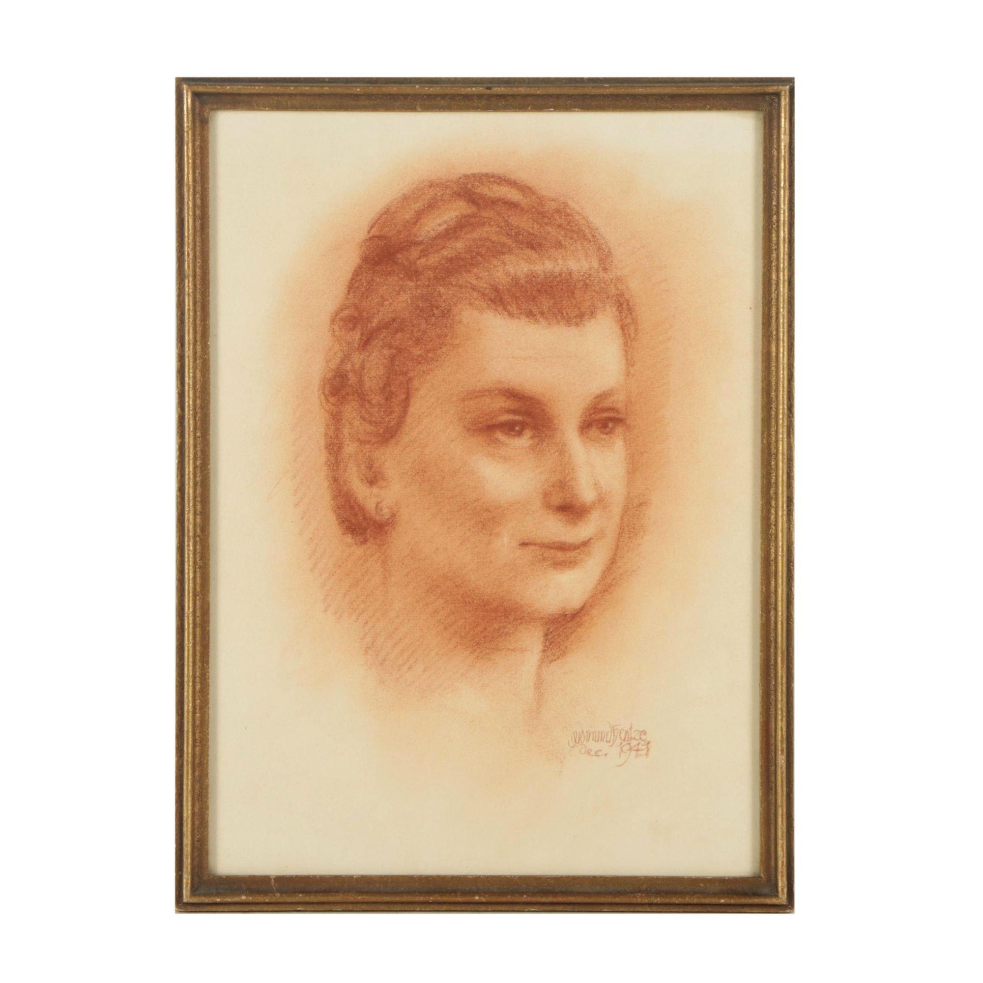 Gudmund  Hentze Portrait Drawing