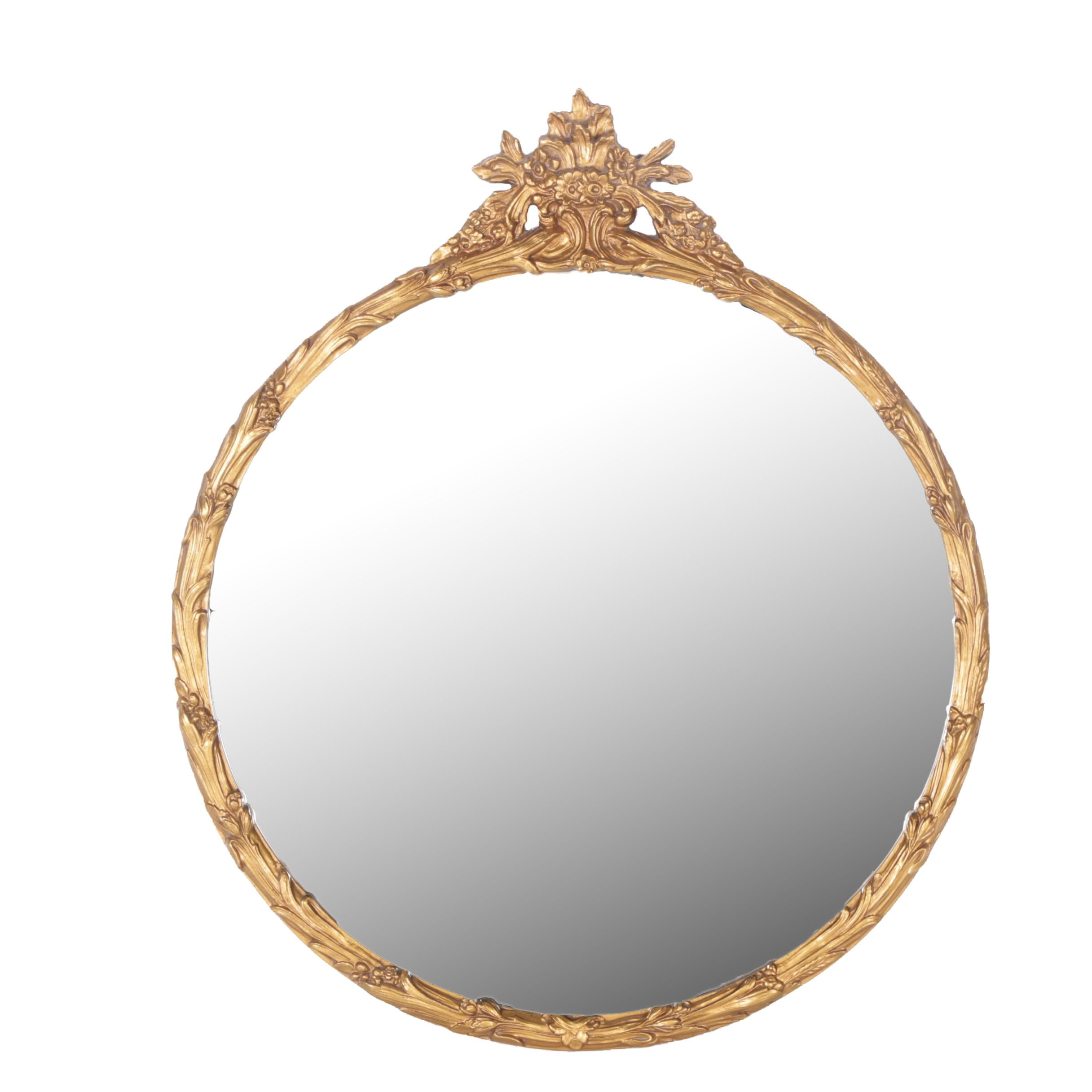 Venetian Style Round Wall Mirror by Hickory Manor