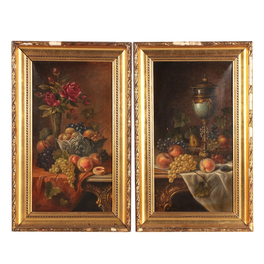 Still Life Oil Paintings Of Fruit Bowls And Vases Ebth