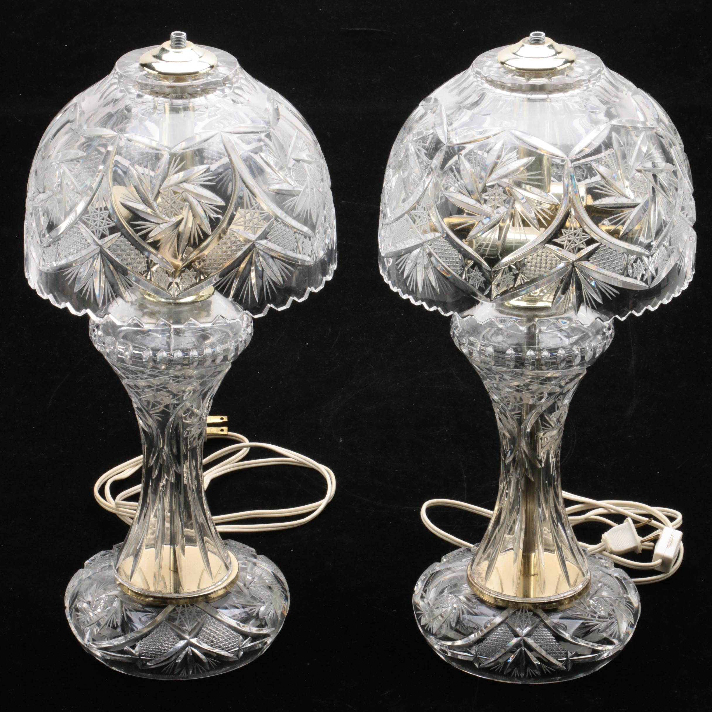 Vintage Cut Crystal Lamps
