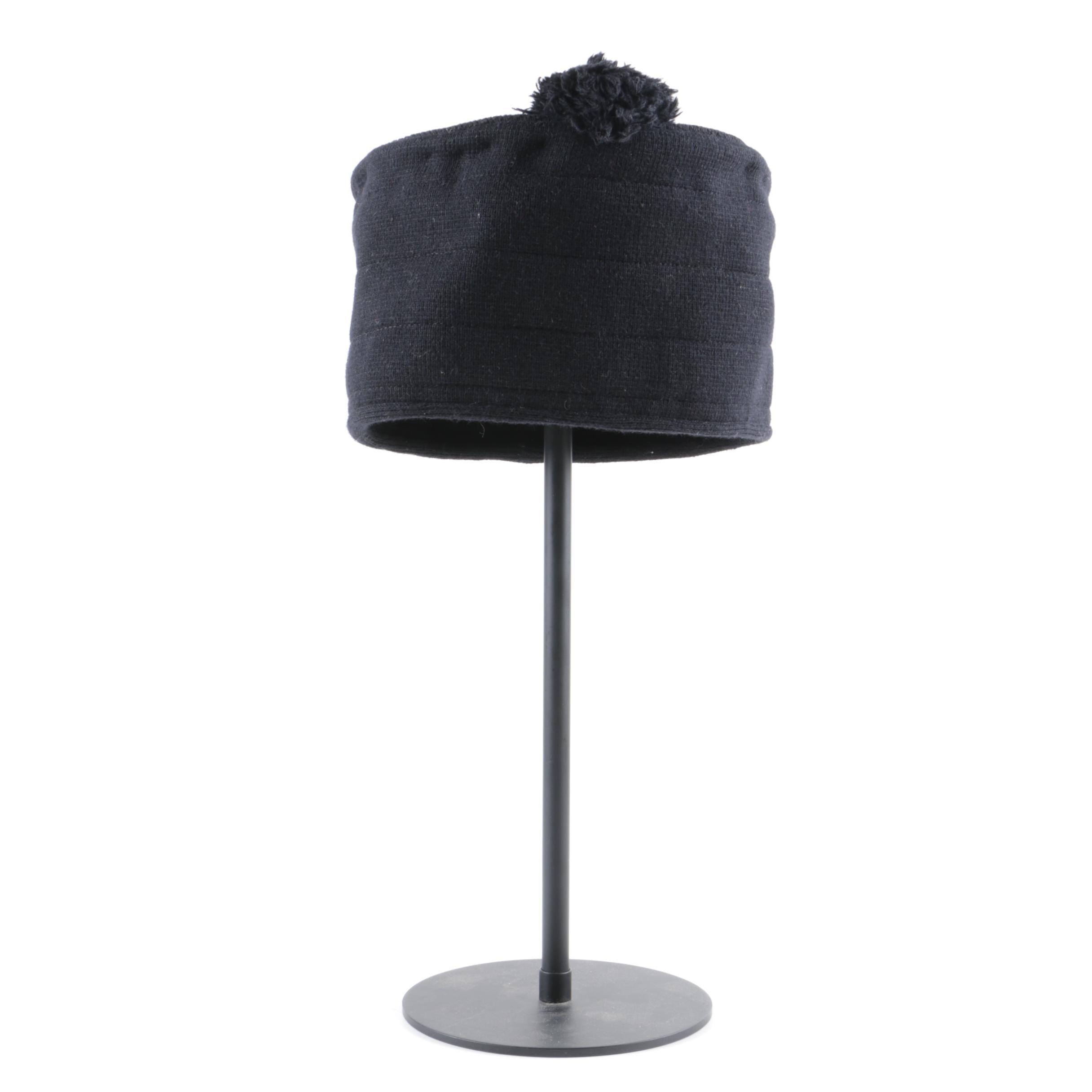 Sonia Rykiel of Paris Black Wool Blend Hat, Made in Italy