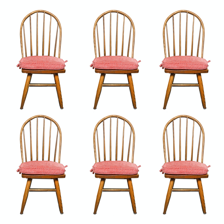 Vintage Oak Hoop Back Side Chairs
