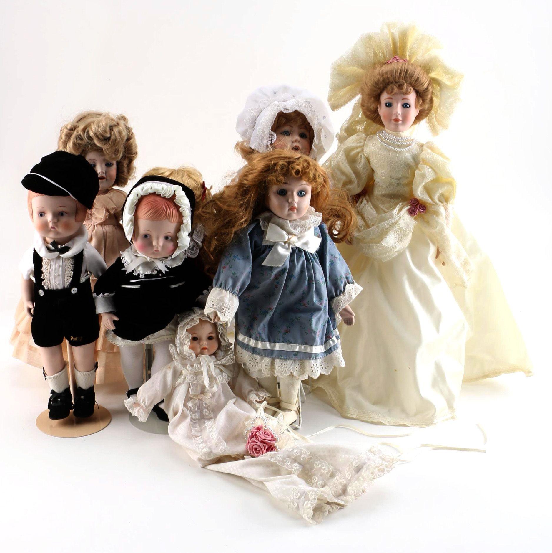 Effanbee, Kestner, Mann, Brinn's Porcelain Dolls