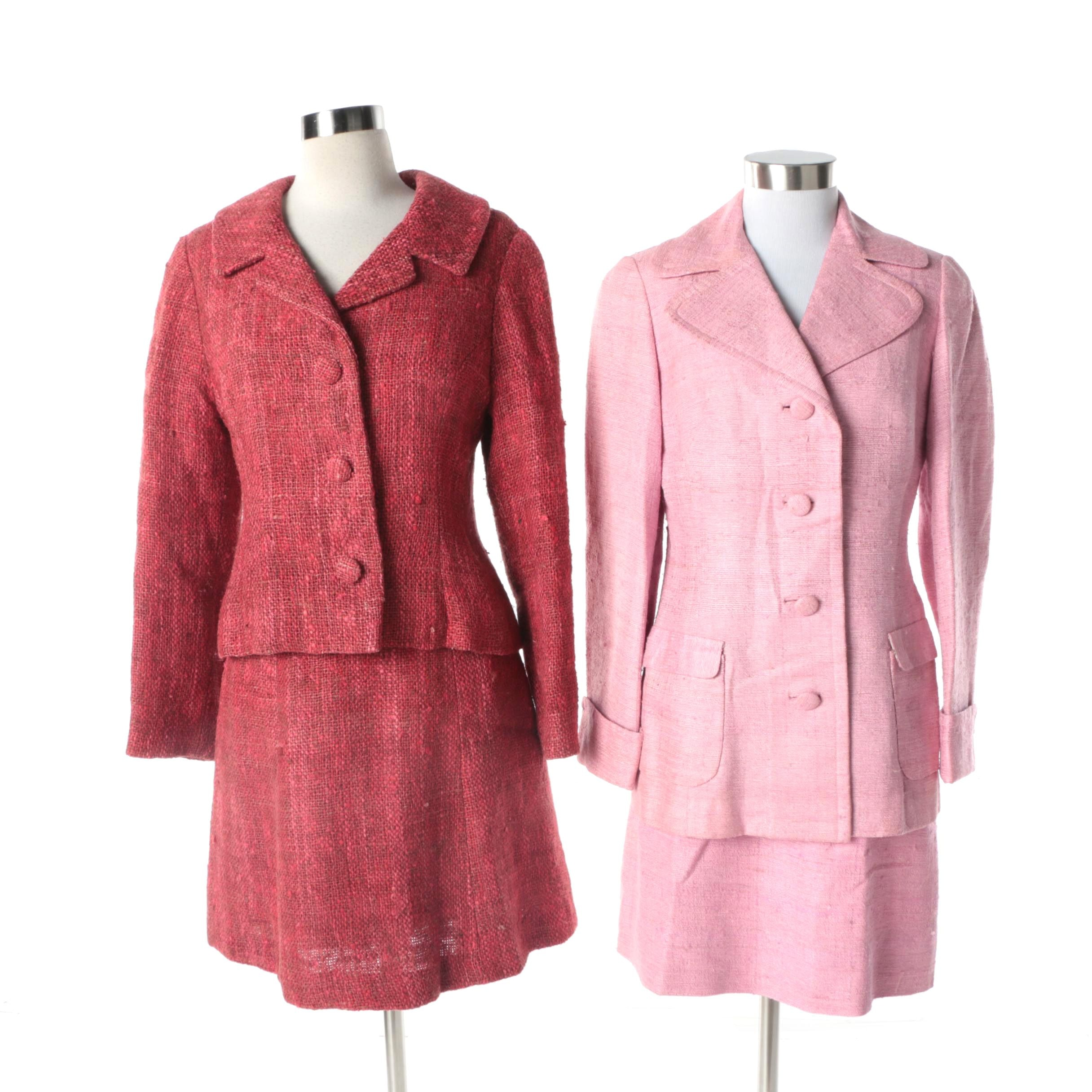 Vintage Wool Blend Skirt Suits Including Francia