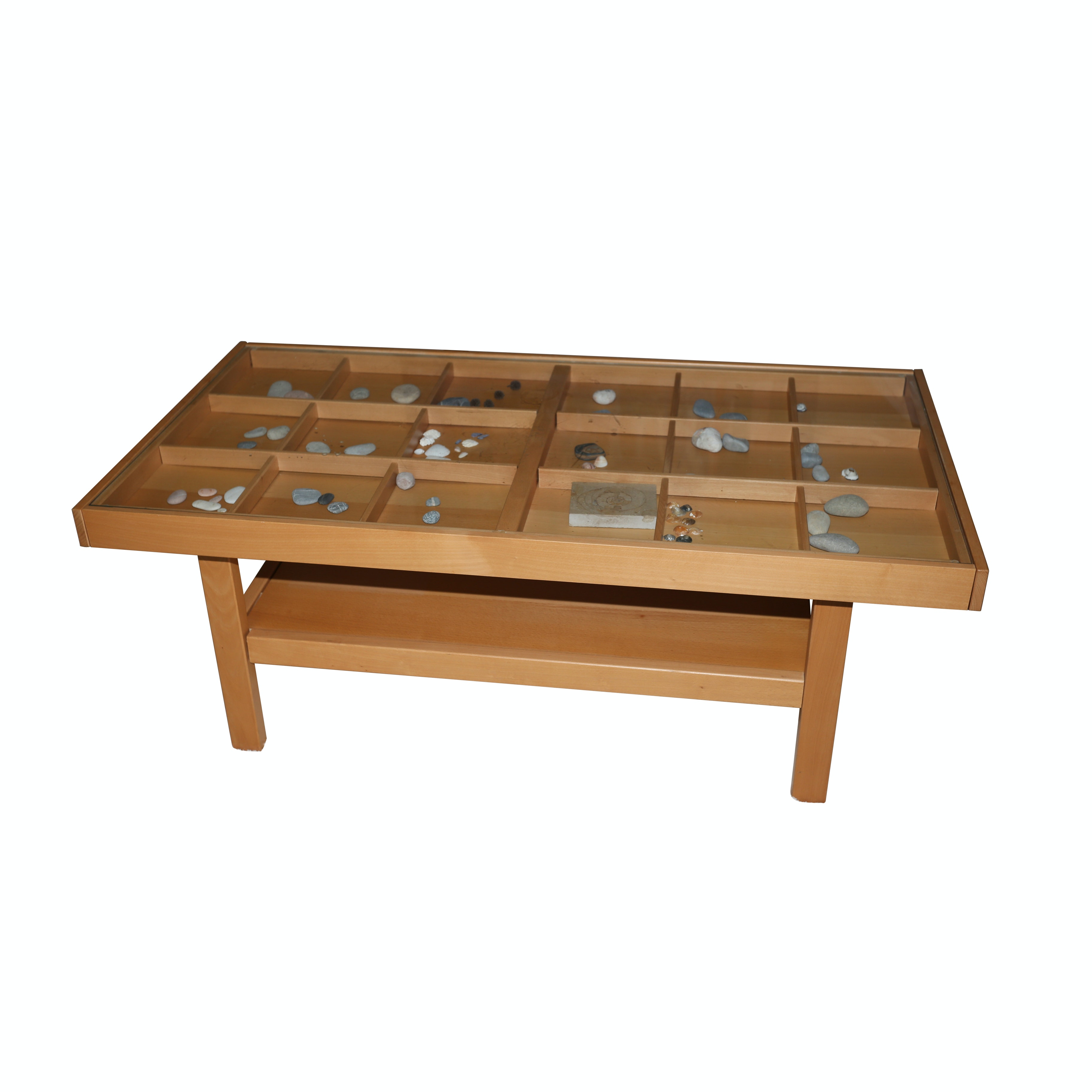 Display Top Wooden Coffee Table