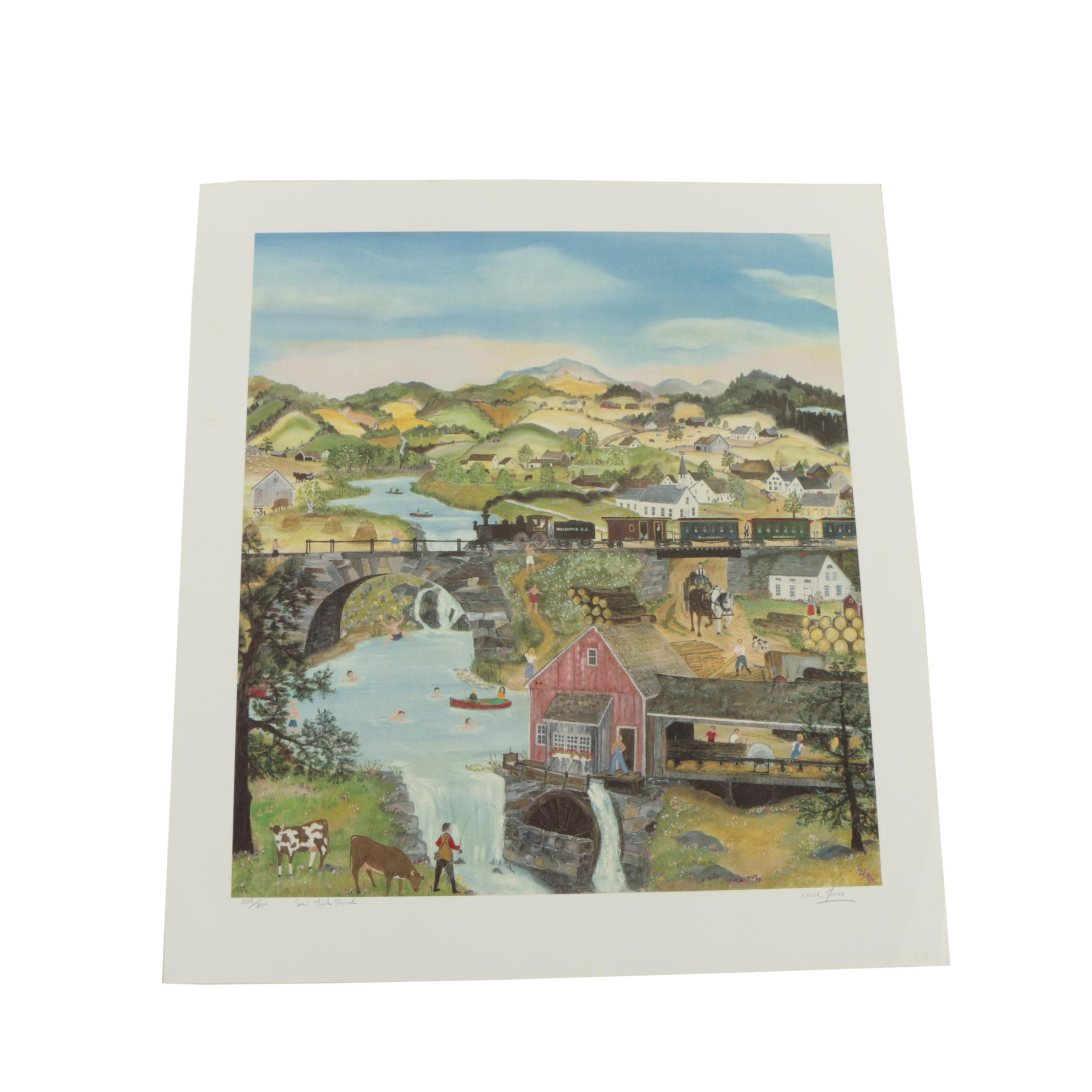 "Will Moses Limited Edition Collotype ""Saw Mill Pond"""