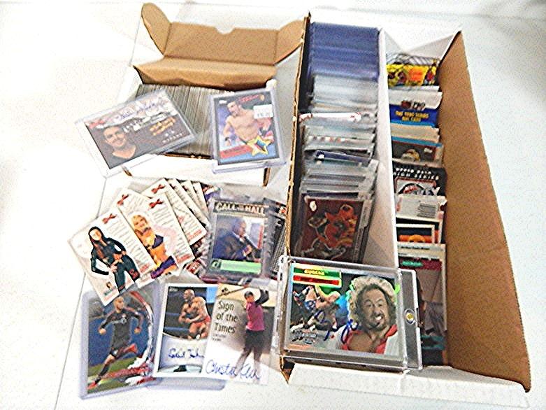 Hockey, Wrestling, XFL Football Card Lot - Around 300 Card Count