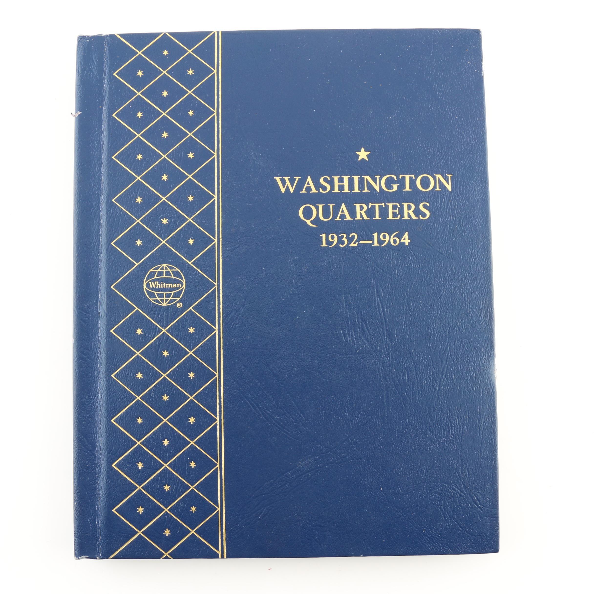 Complete Whitman Binder of Washington Silver Quarters, 1932-1964