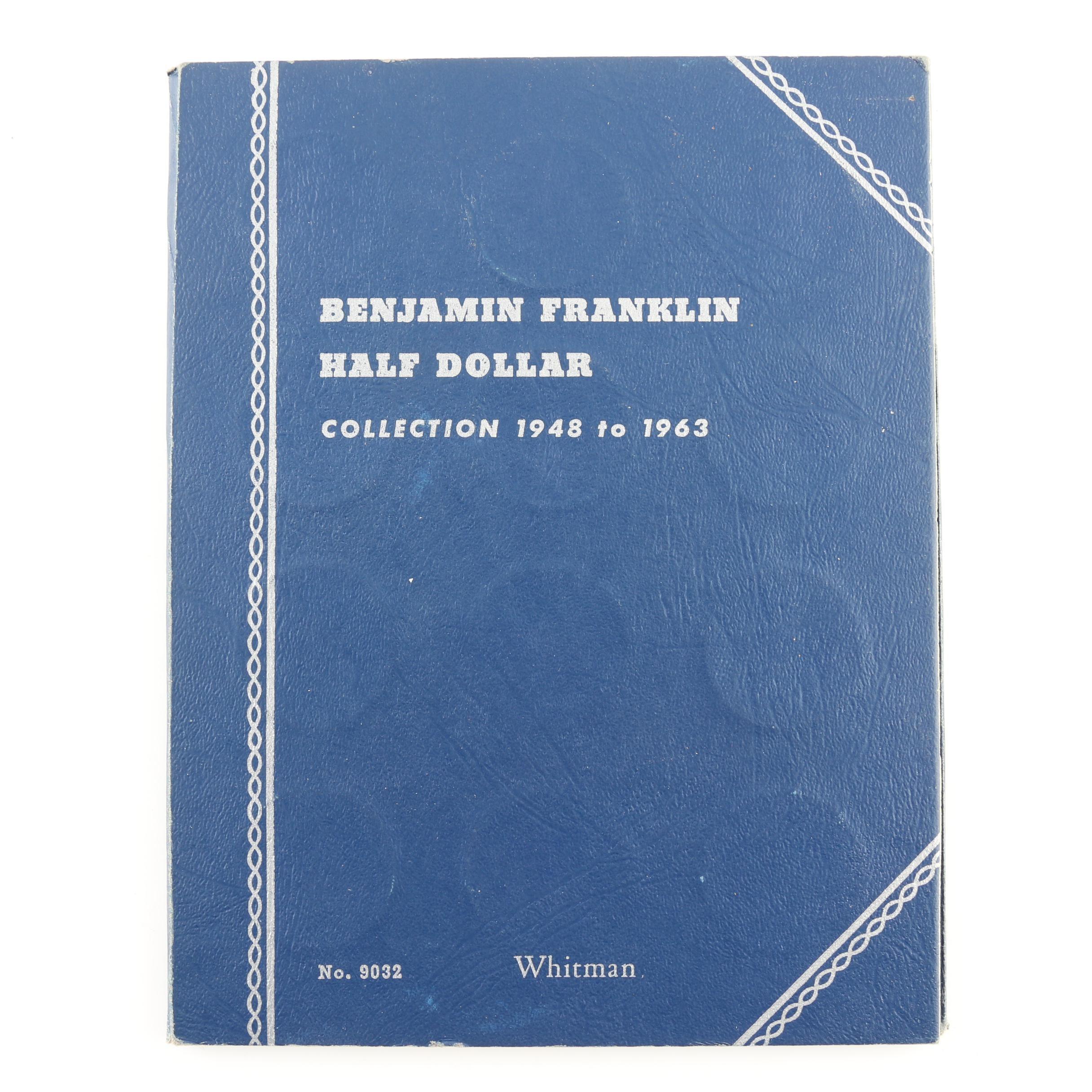 Whitman Binder of Franklin Silver Half Dollars