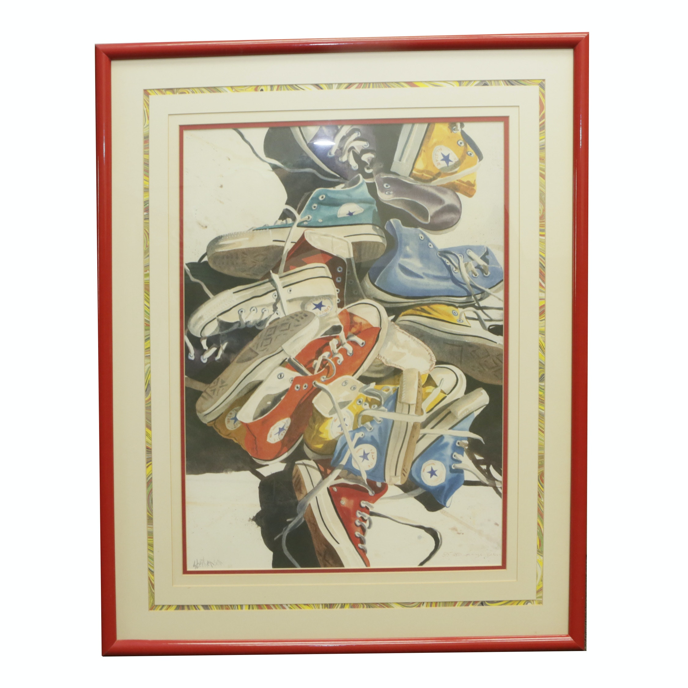 Offset Lithograph After Stephenson of Converse Shoes