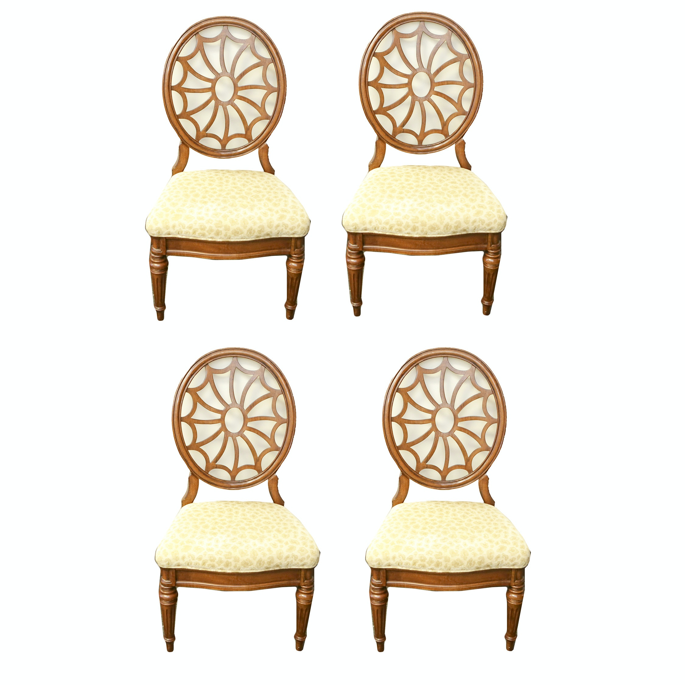 Hepplewhite Style Spider Web Back Side Chairs