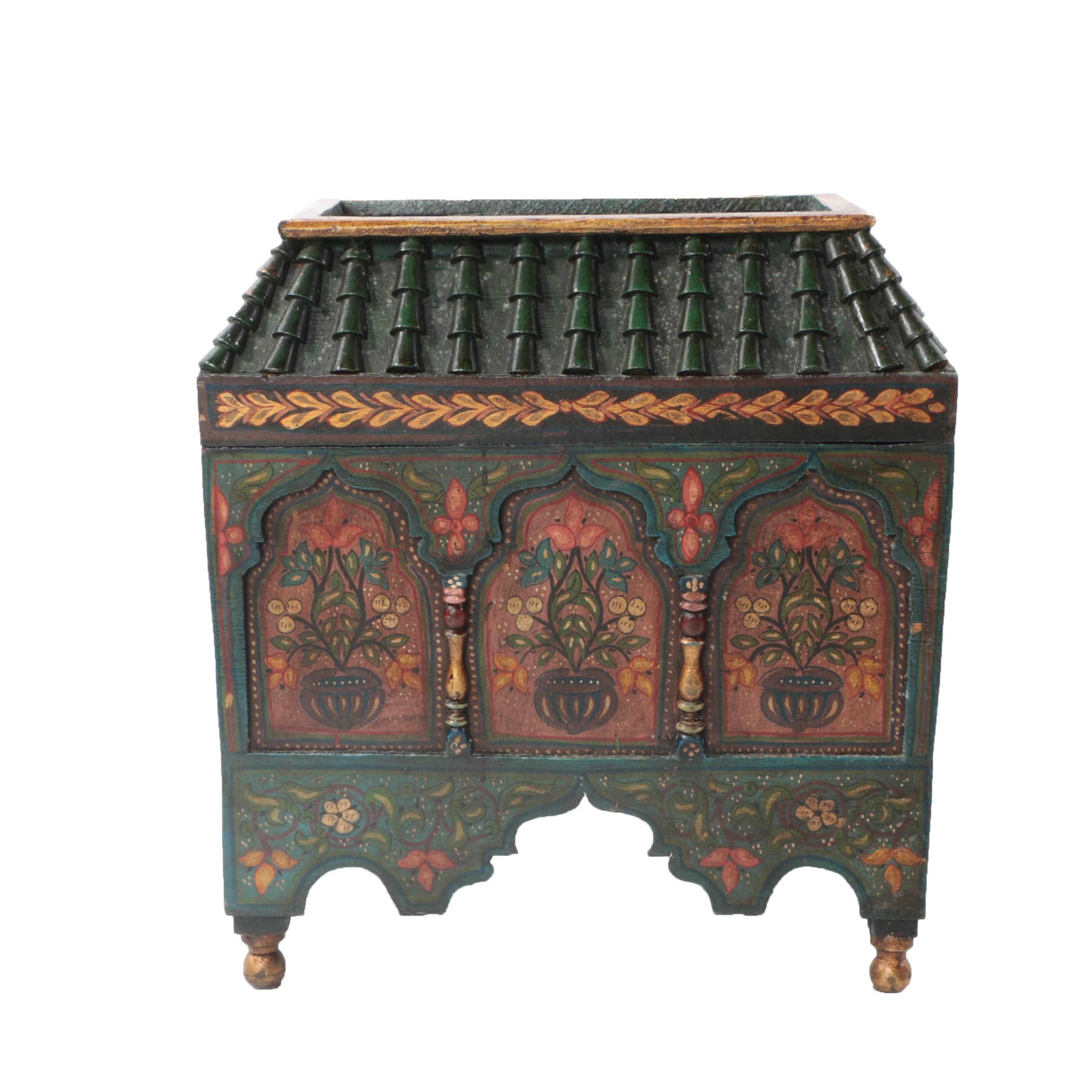 Small Green Asian Style Chest