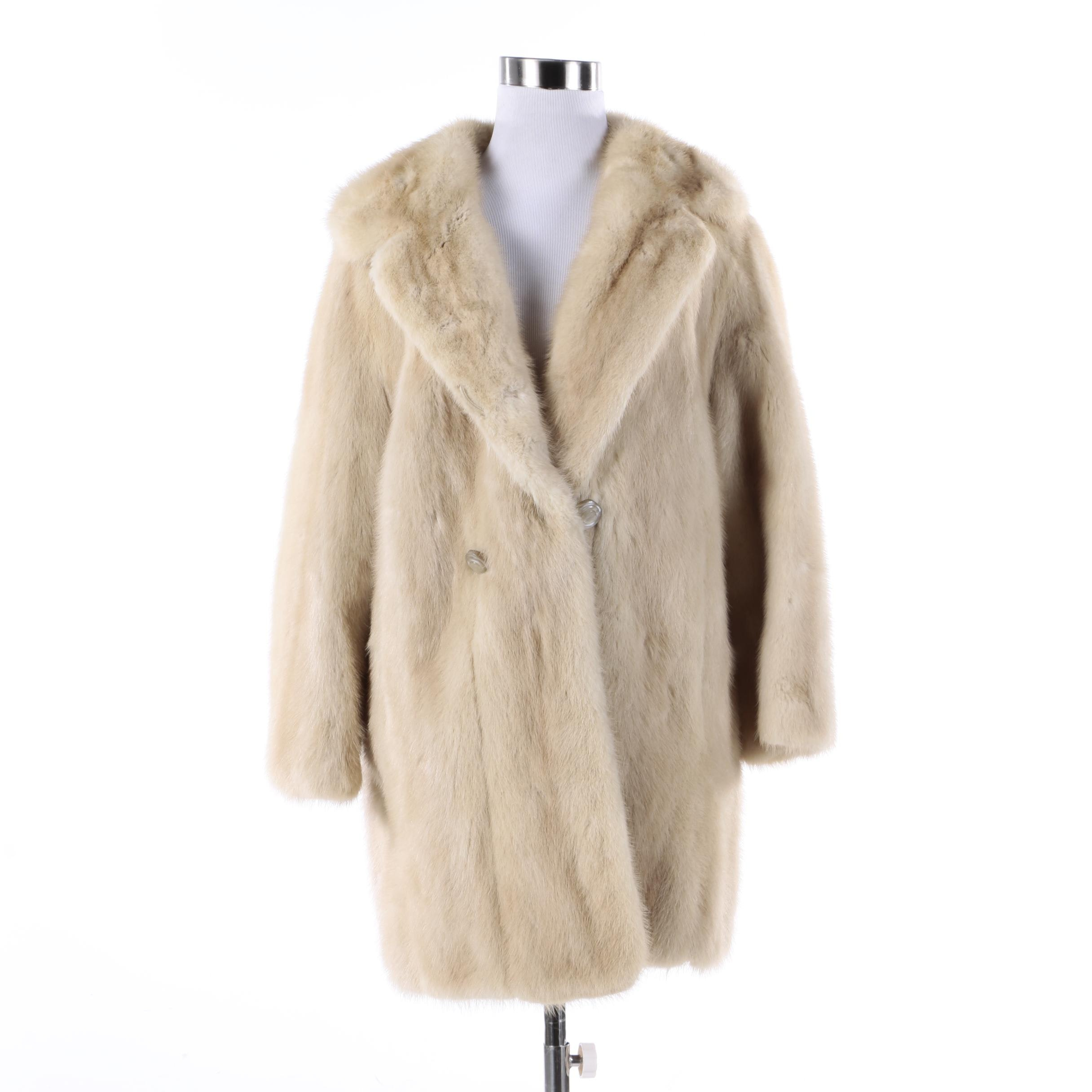 Women's Chudiks Blonde Mink Fur Coat