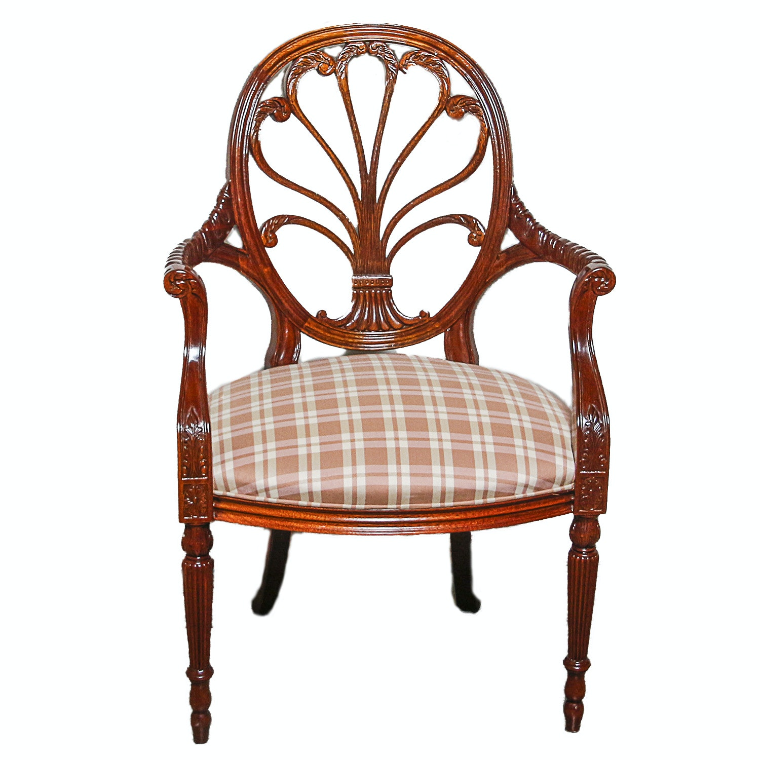 Curled Wheat Stalk Balloon Back Fauteuil