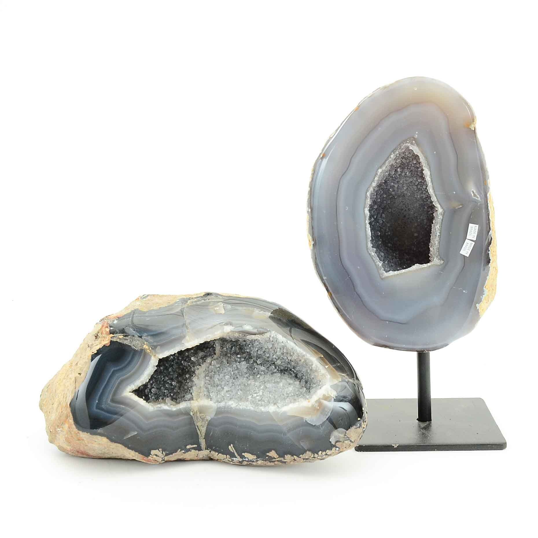 Pair of Polished Agate Geodes