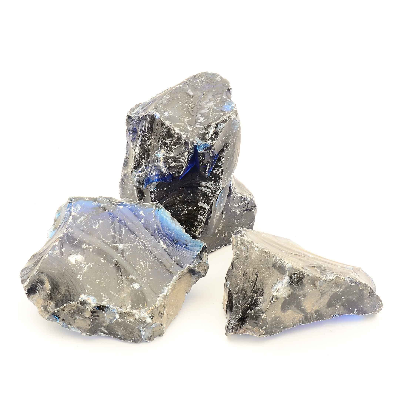 Blue Slag Glass Chunks