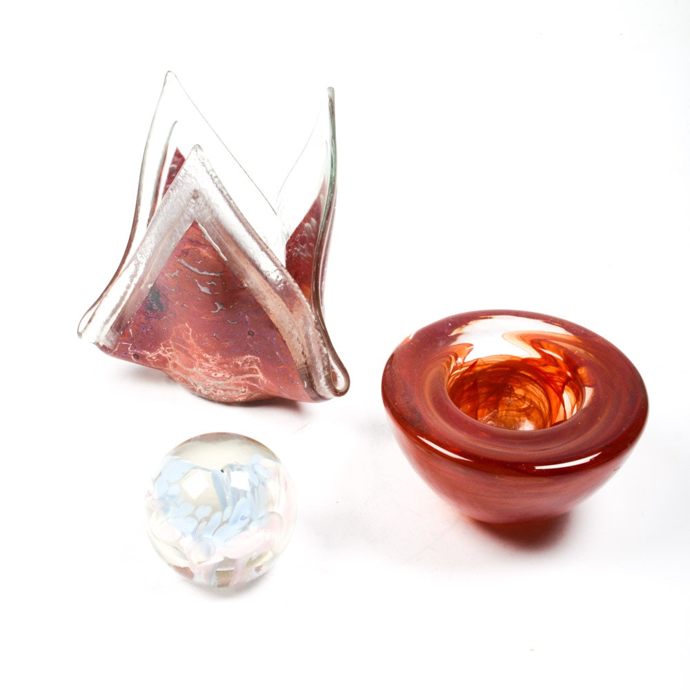 Hand-Blown Glass by Kosta Boda and Jones Glassworks