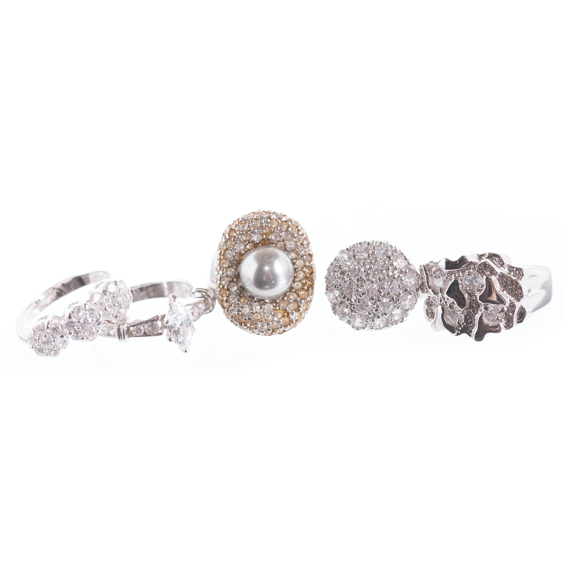 Sterling Silver and cubic Zirconia Rings