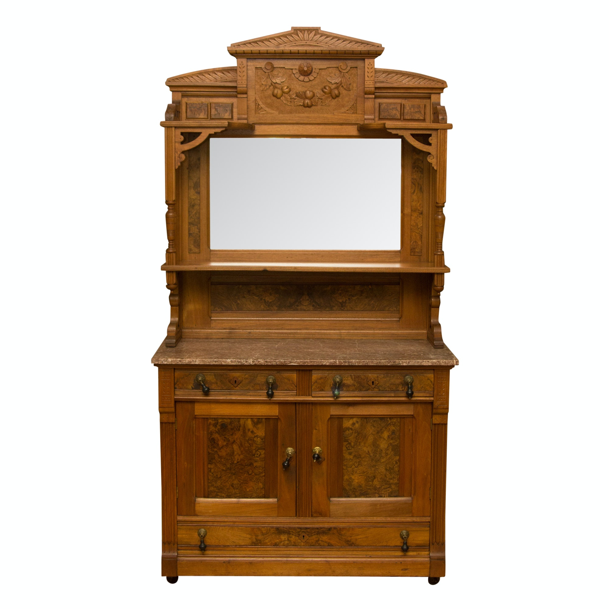 Antique Marble Topped Sideboard