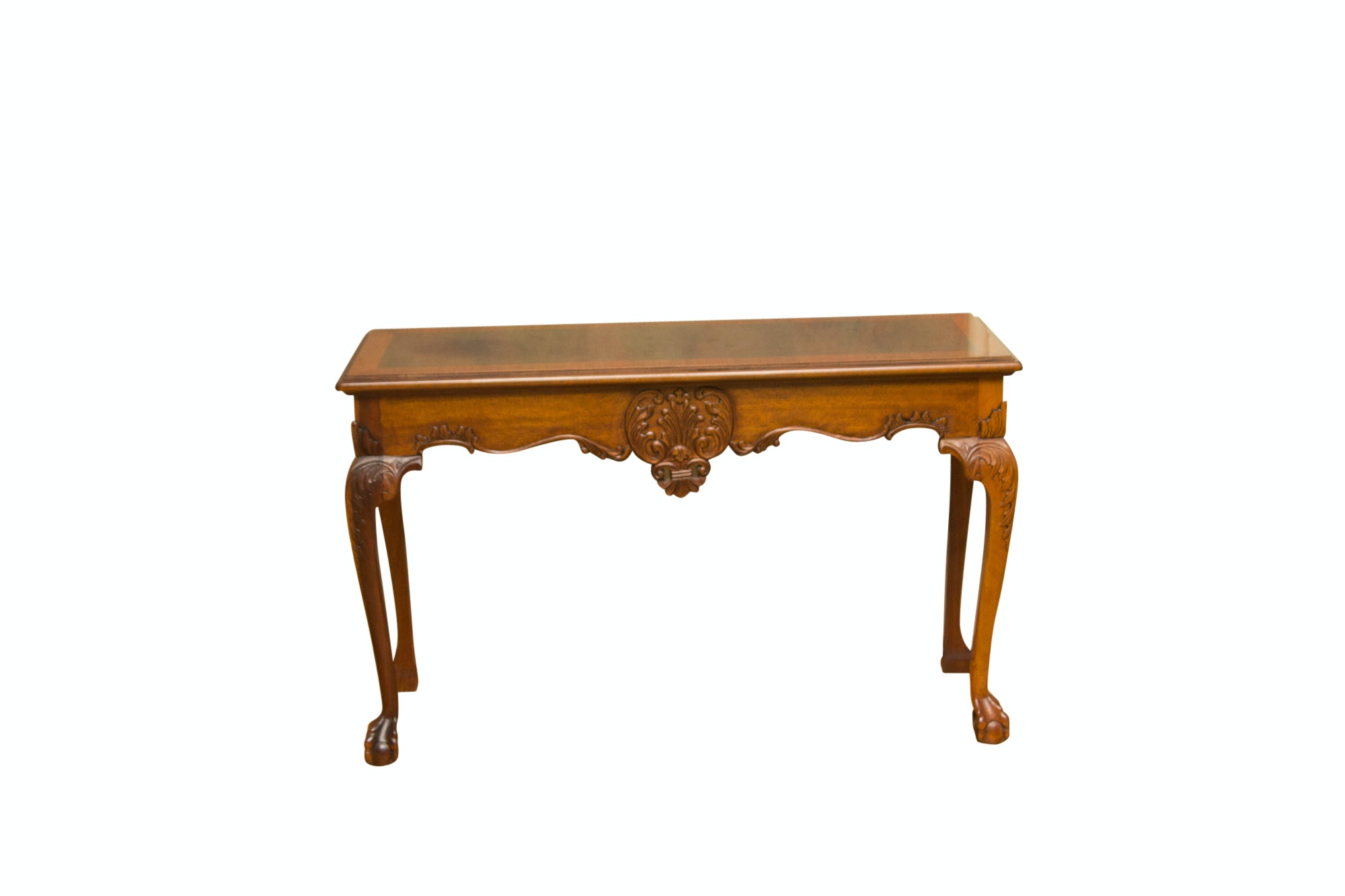 Vintage Claw Foot Console Table