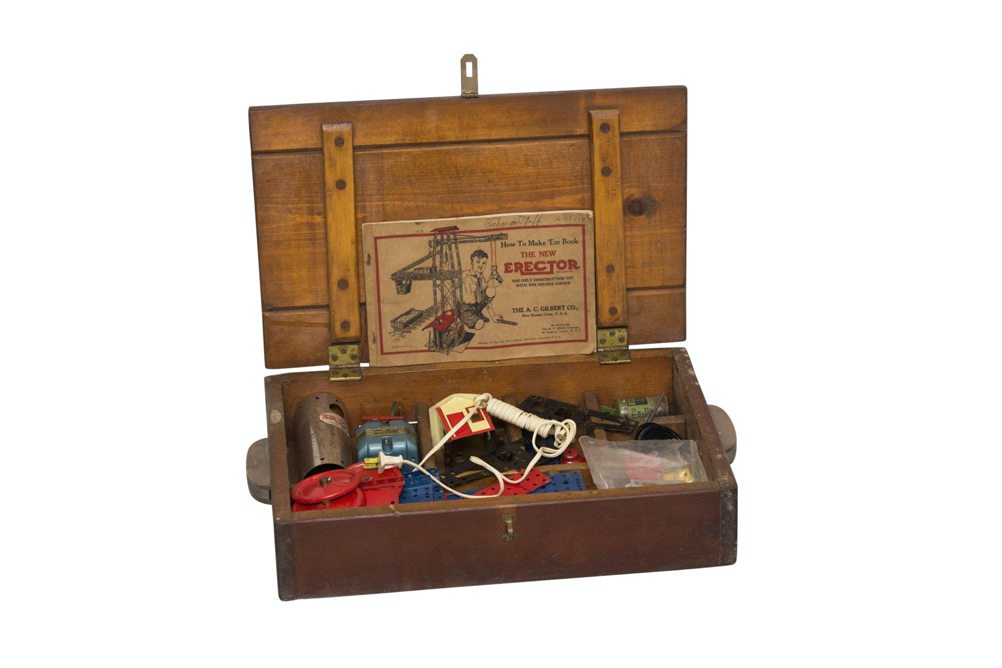 Wooden Boxed A.C. Gilbert Erector Set