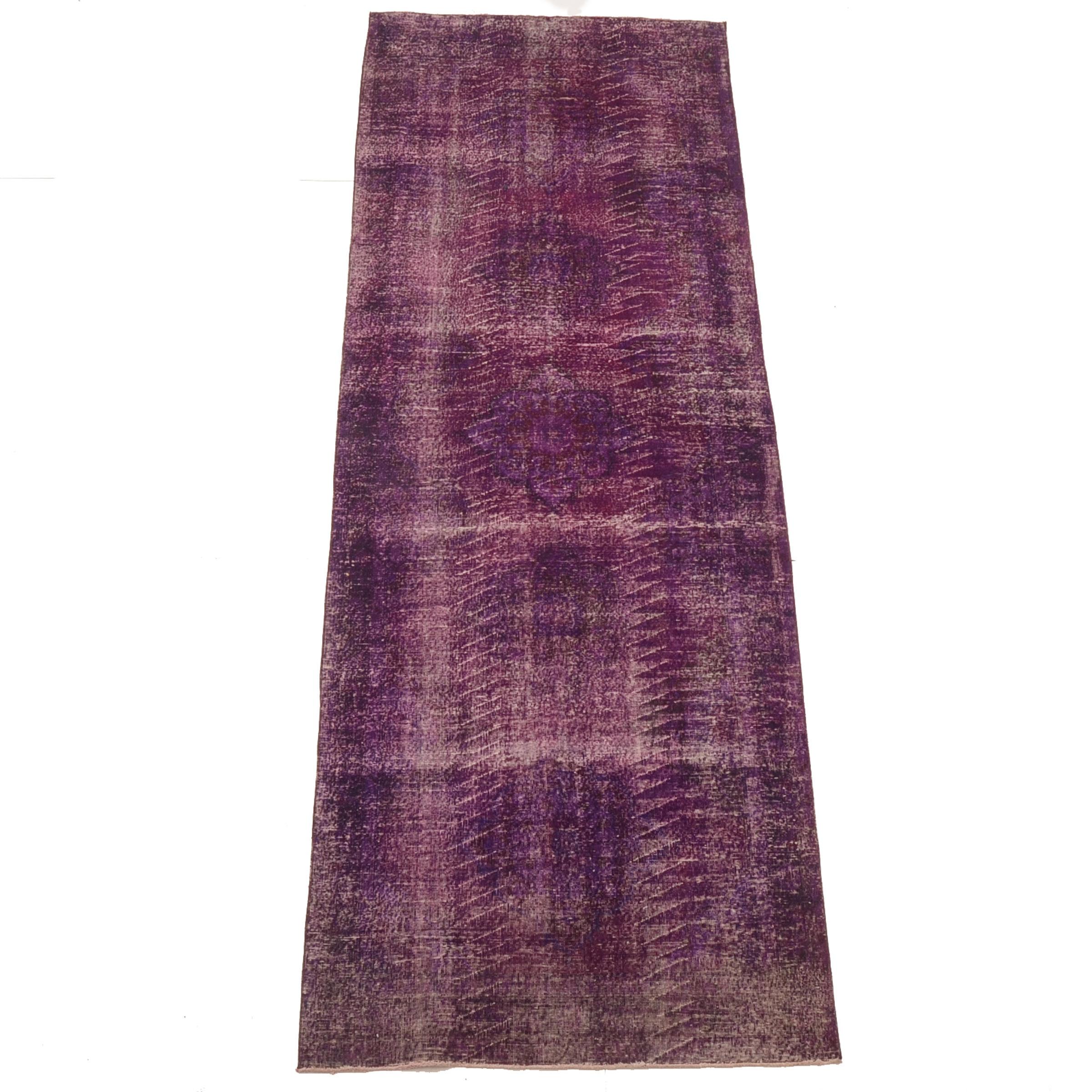Vintage Turkish Area Rug in Purple