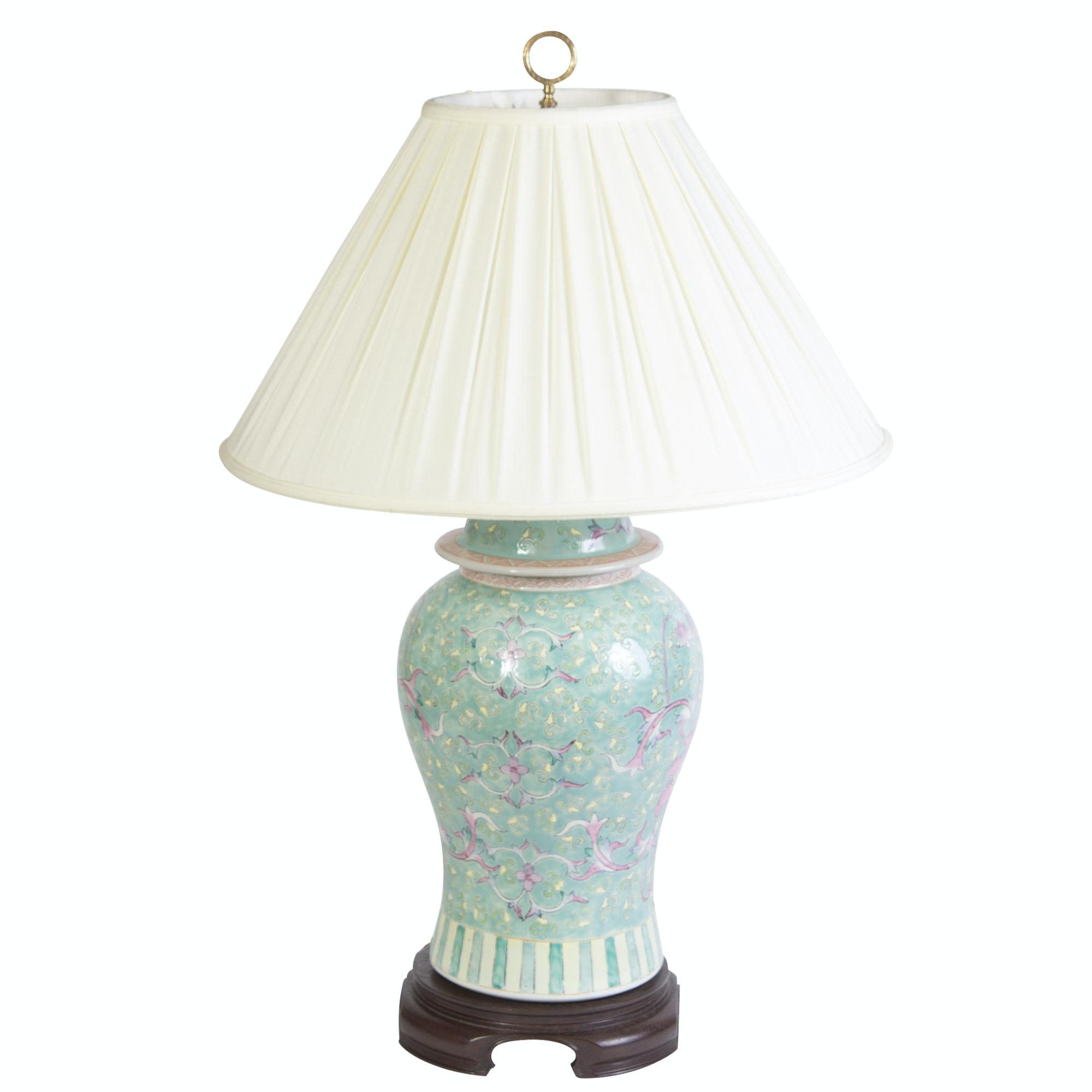 Asian Ginger Jar Ceramic Table Lamp