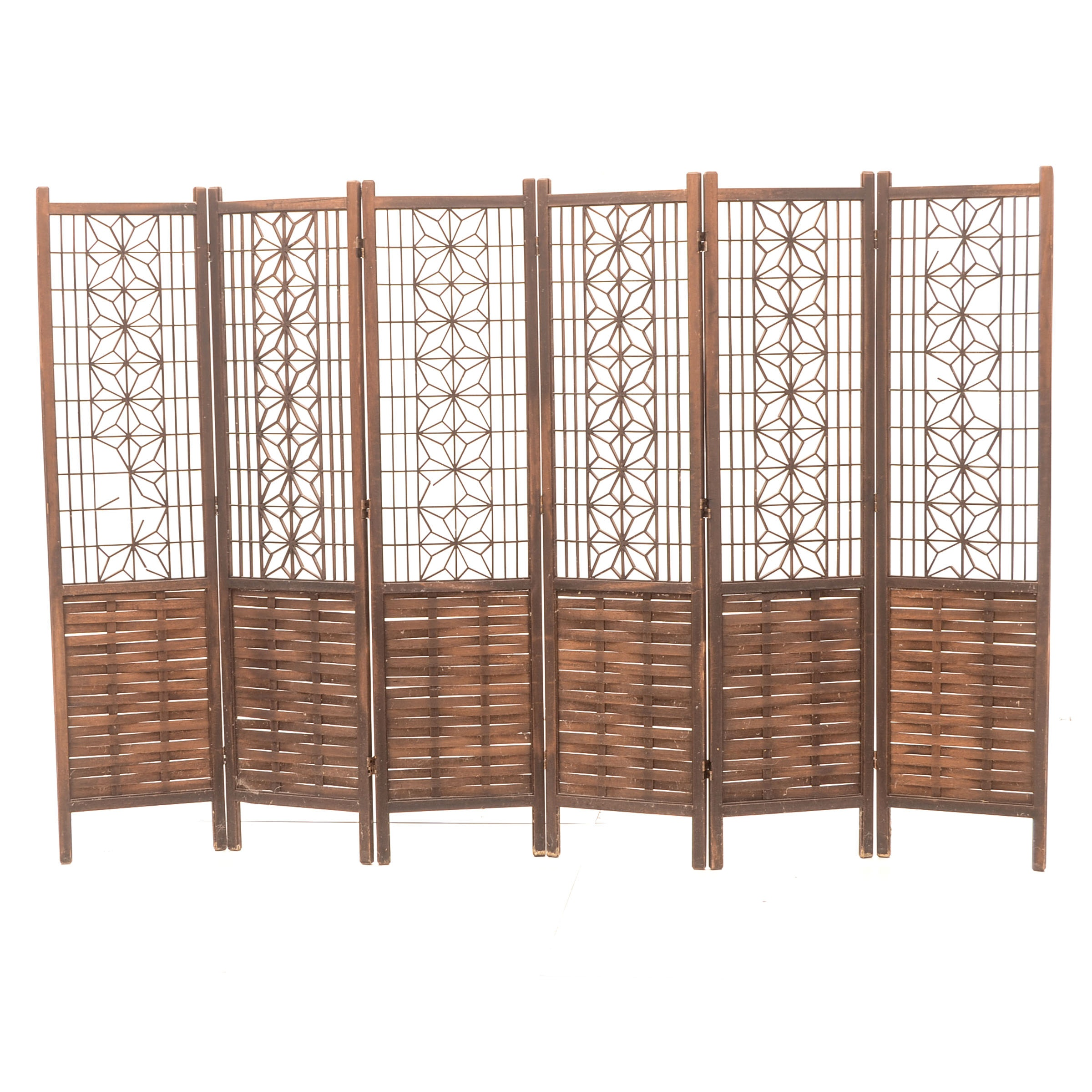 Six Panel Moroccan Style Fretwork Screen