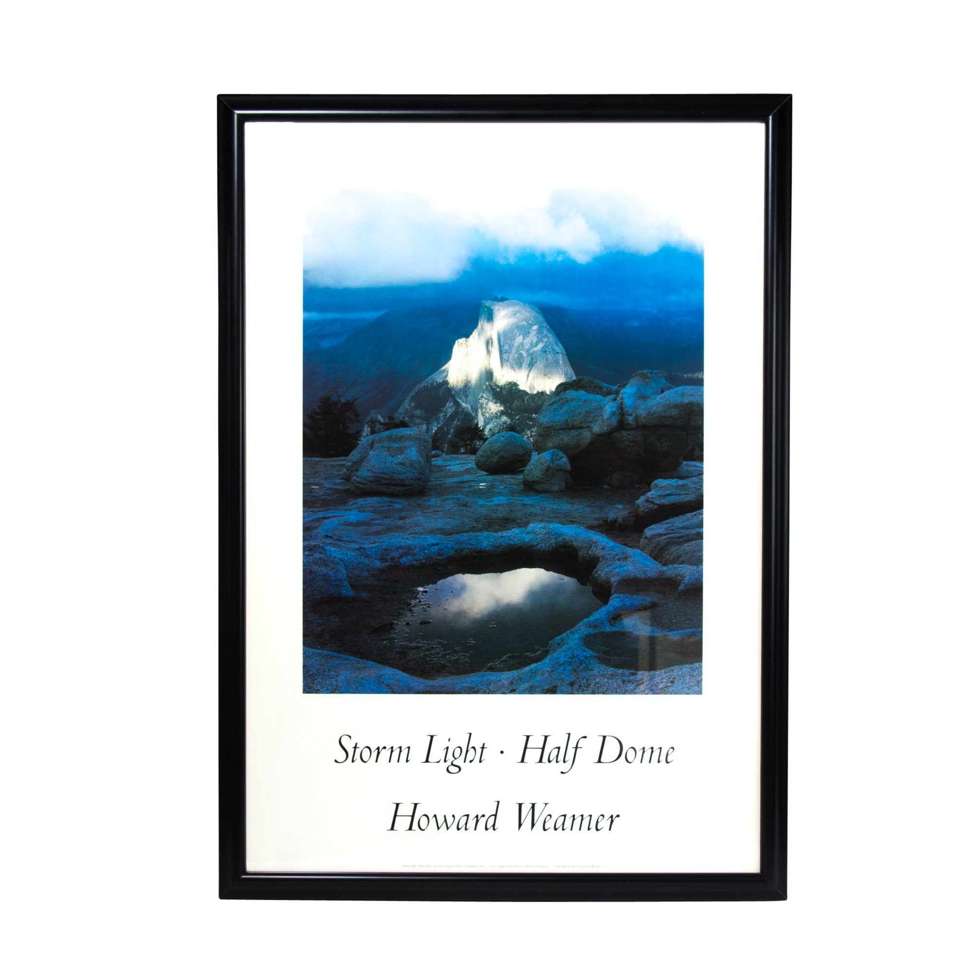 """Storm Light Half Dome"" Howard Weamer Framed Poster"