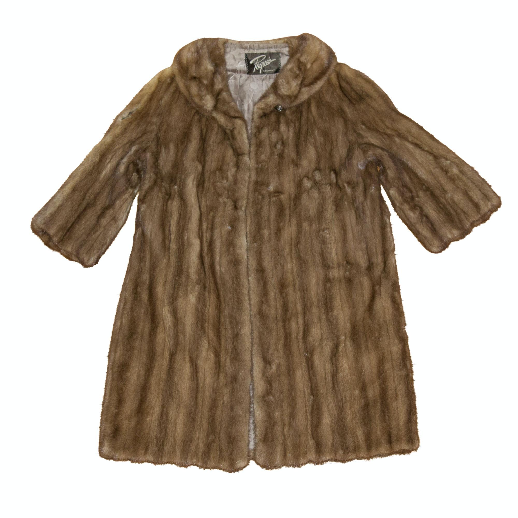 Vintage Pogues Mink Fur Coat