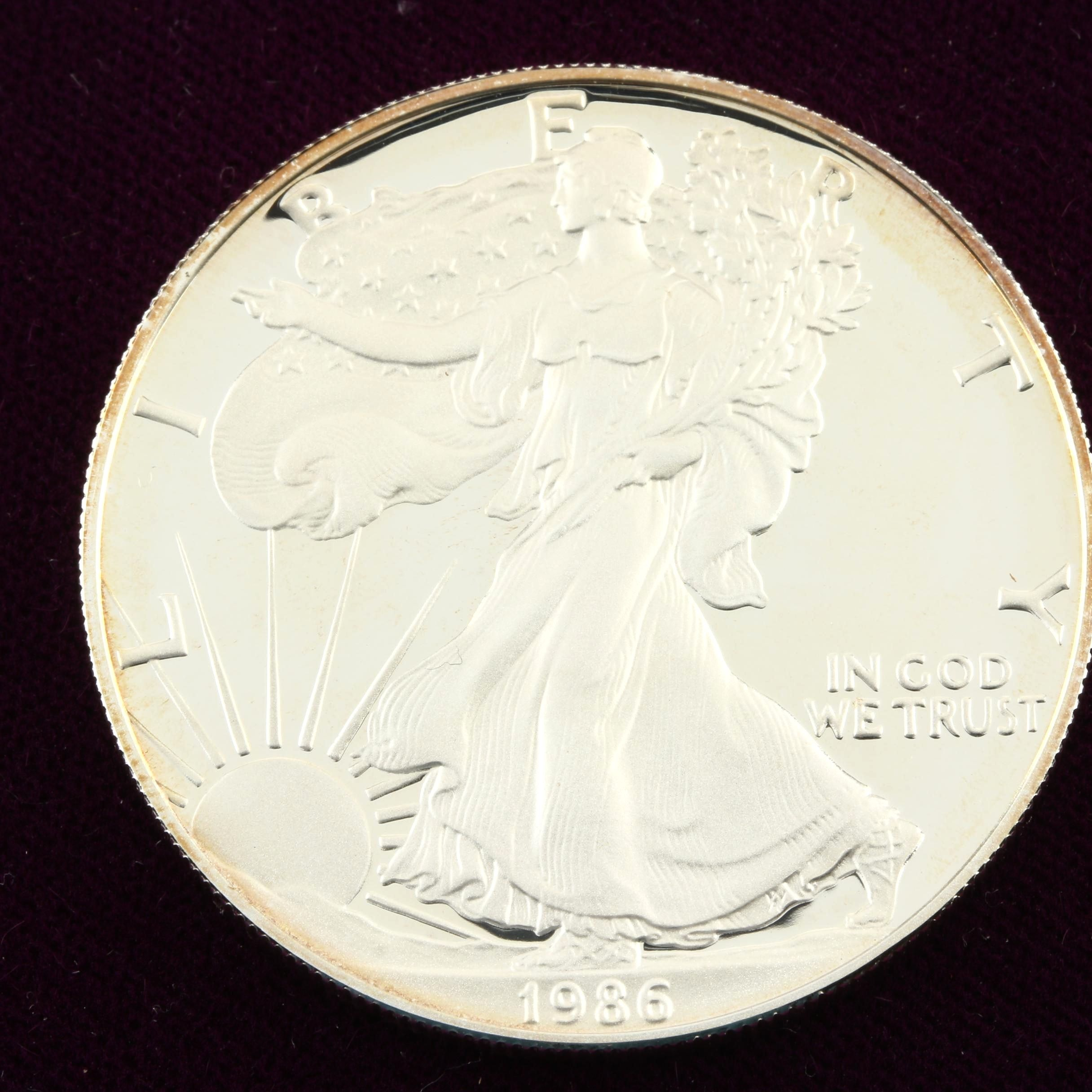 1986-S Walking Liberty Silver Eagle Proof Bullion Coin