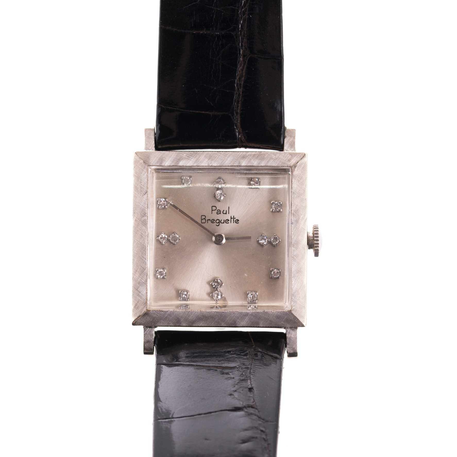 Paul Breguette 14K White Gold and Diamond Wristwatch