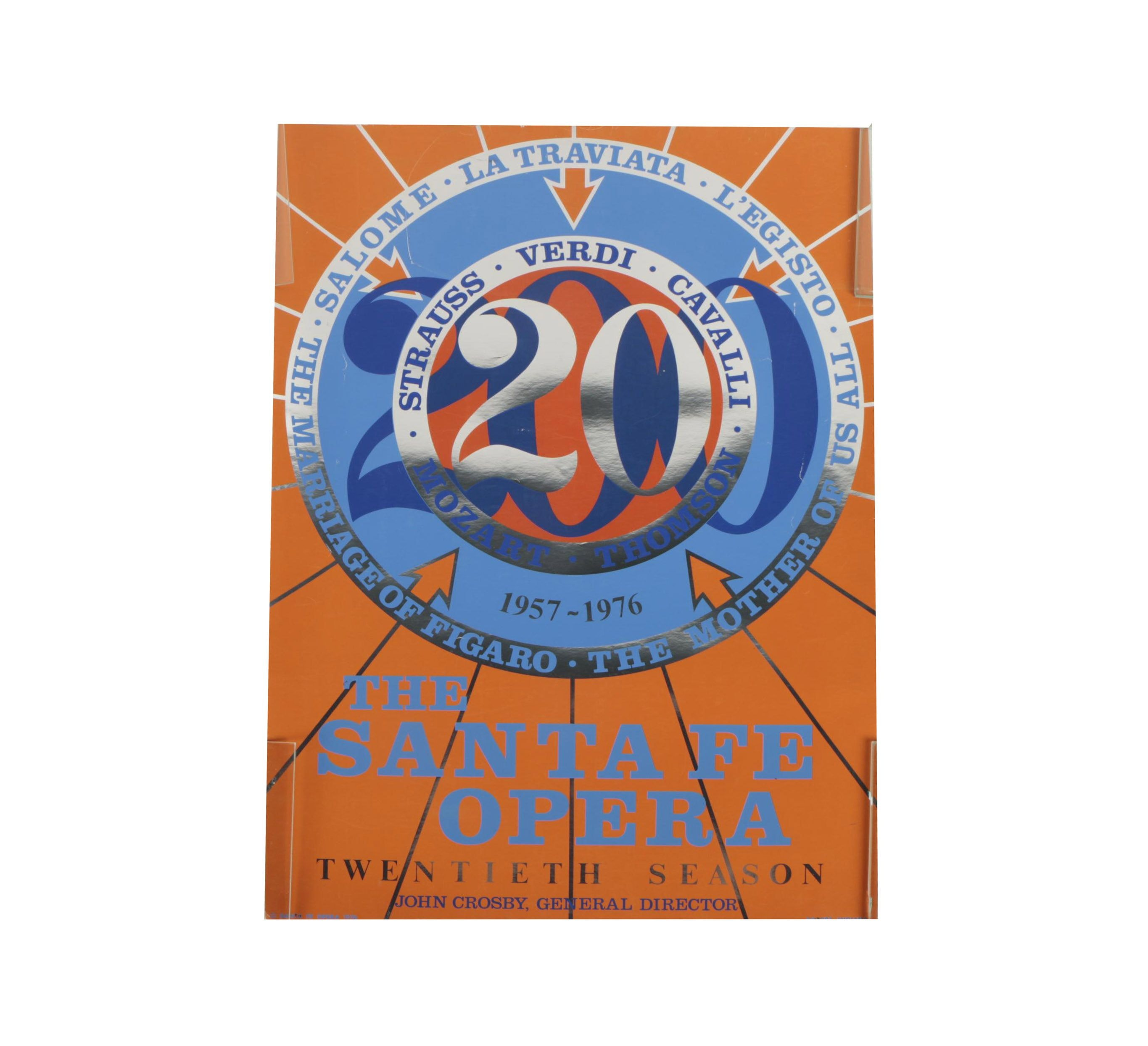 Vintage Serigraph Poster Designed by Robert Indiana for the Santa Fe Opera