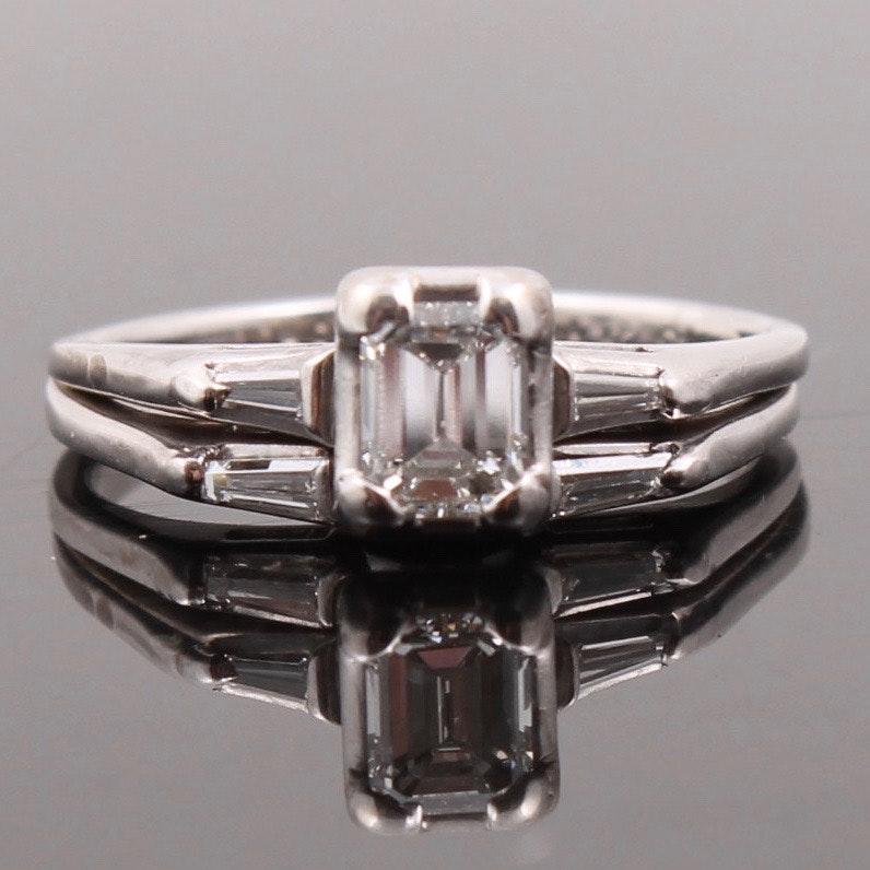14K White Gold Diamond Soldered Wedding Set