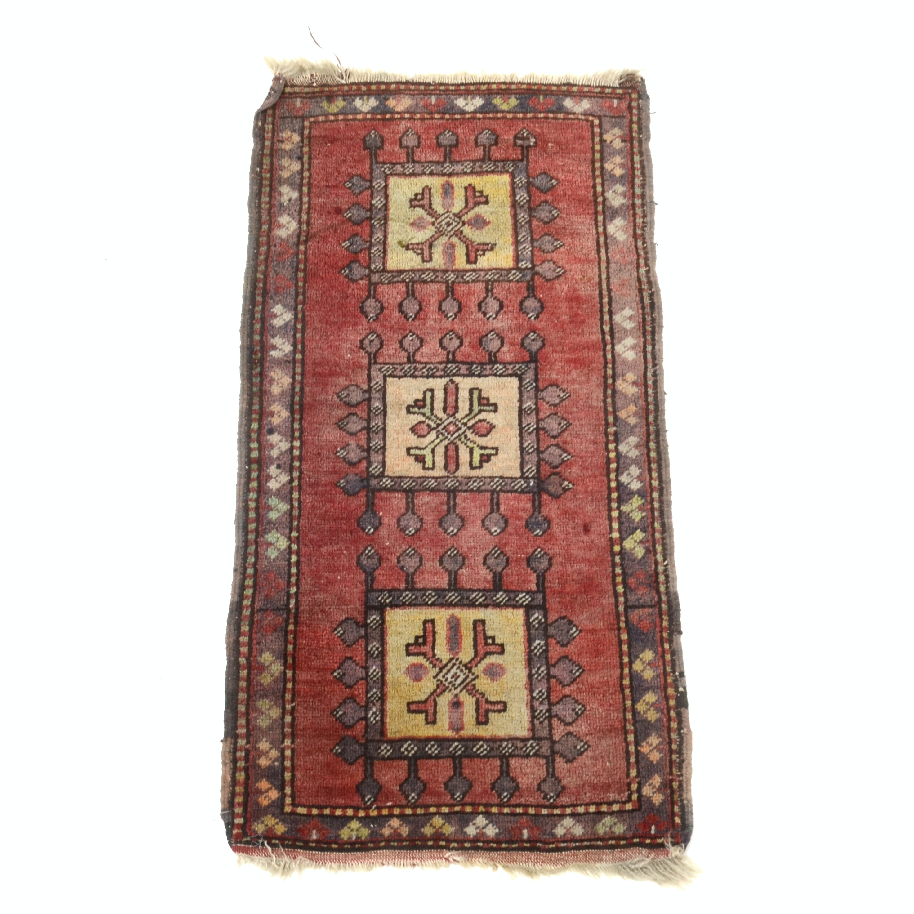 Hand Knotted Turkish Wool Accent Rug