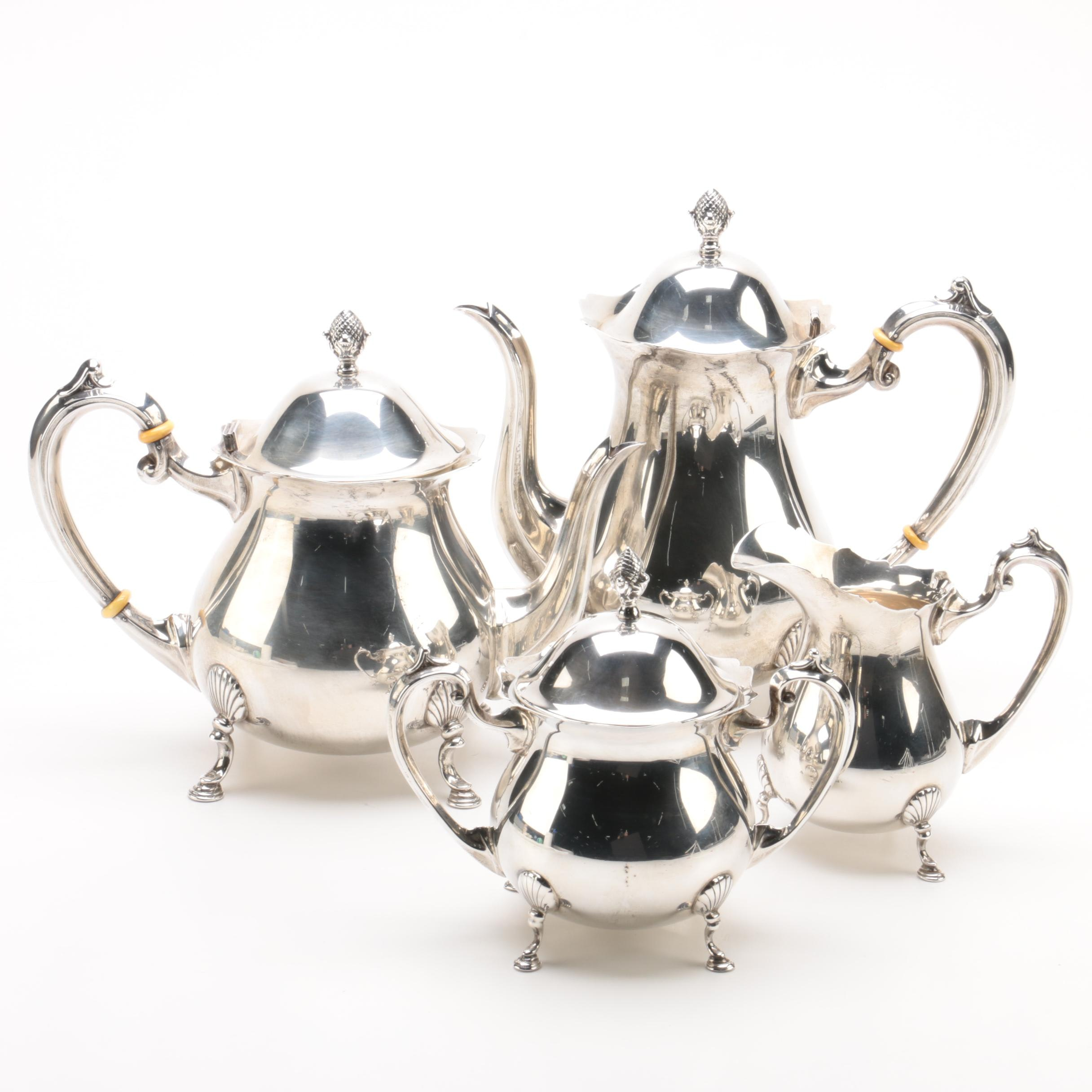 "Fisher Silversmiths ""Jack Shepard"" Sterling Silver Tea and Coffee Service Set"