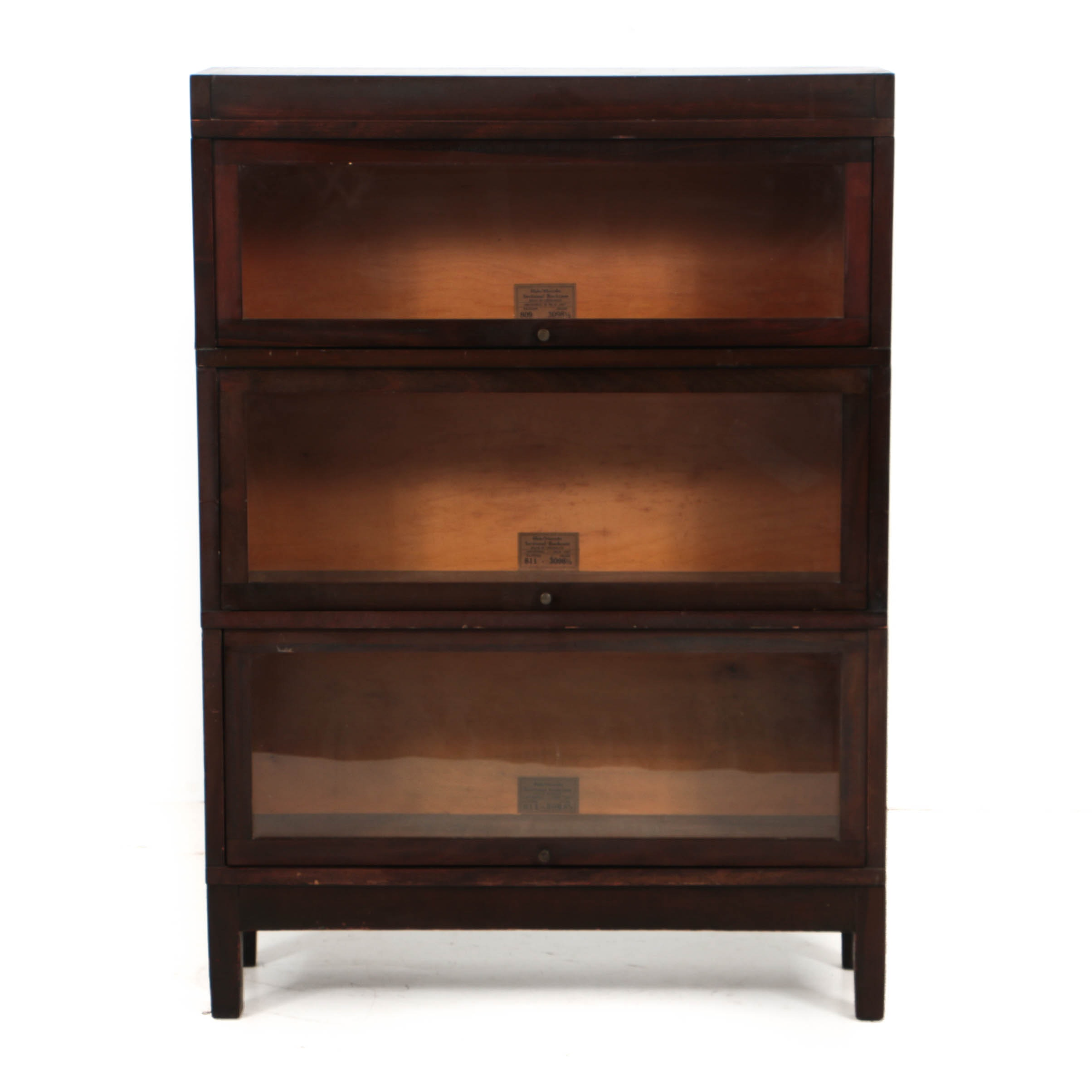 Vintage Three-Section Barrister's Bookcase by Globe-Wernicke